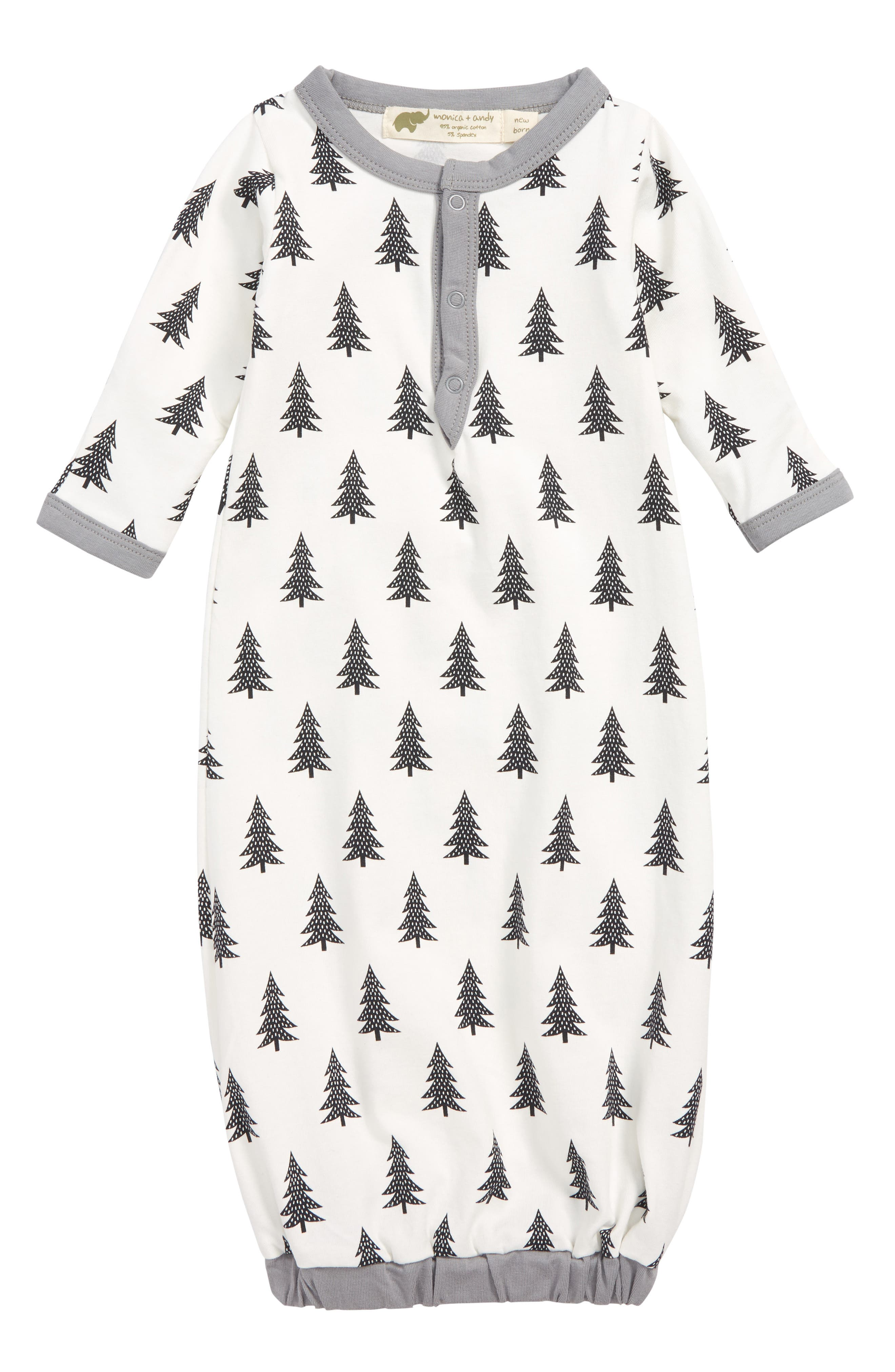 Infant Boys Monica  Andy Stretch Organic Cotton Gown