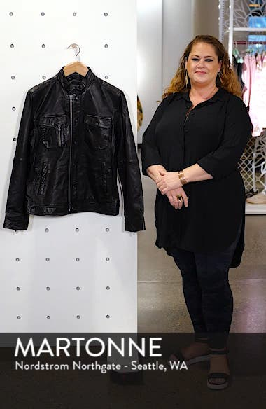 Leather Zip Front Jacket, sales video thumbnail