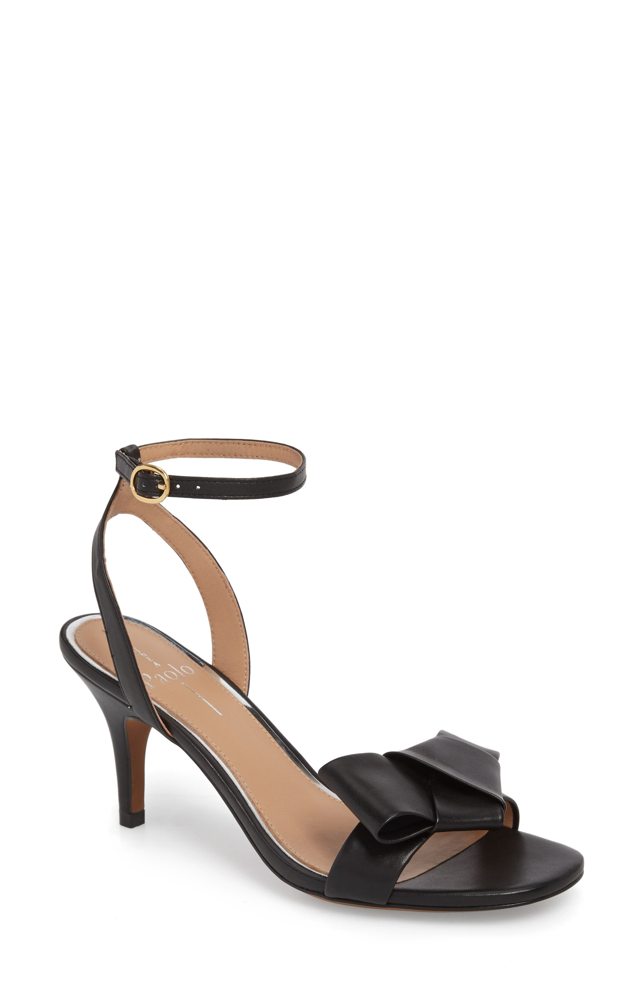 Haven Ankle Strap Sandal,                         Main,                         color, BLACK LEATHER