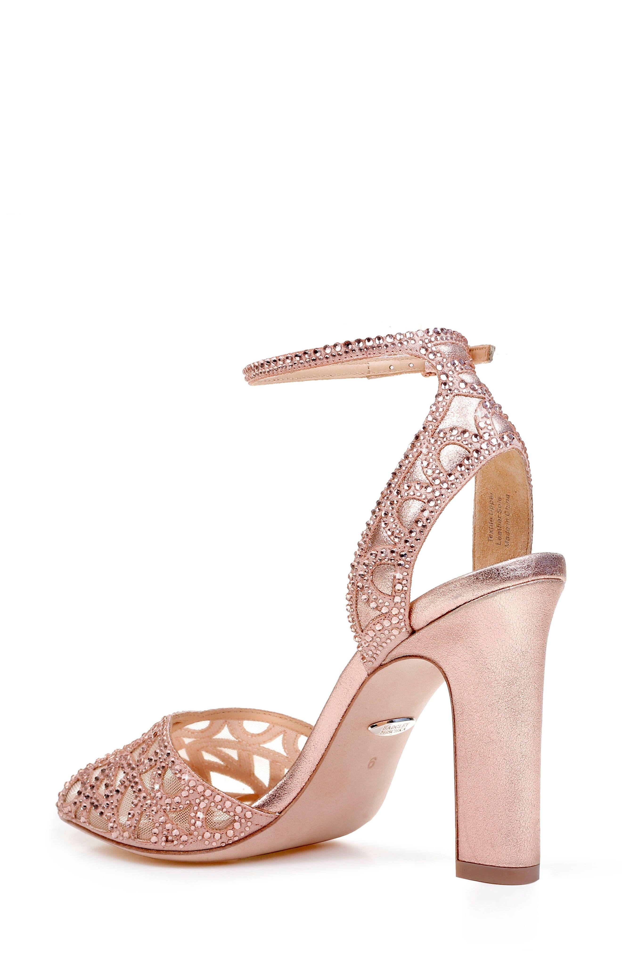 Hart Crystal Embellished Sandal,                             Alternate thumbnail 2, color,                             ROSE GOLD METALLIC SUEDE