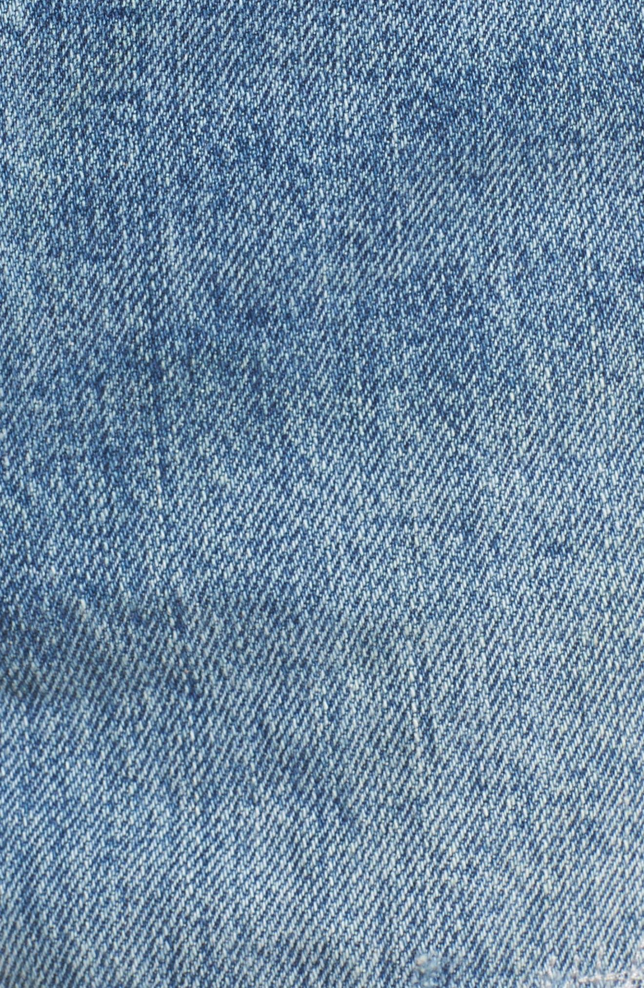 Wedgie High Waist Cutoff Denim Shorts,                             Alternate thumbnail 6, color,                             401