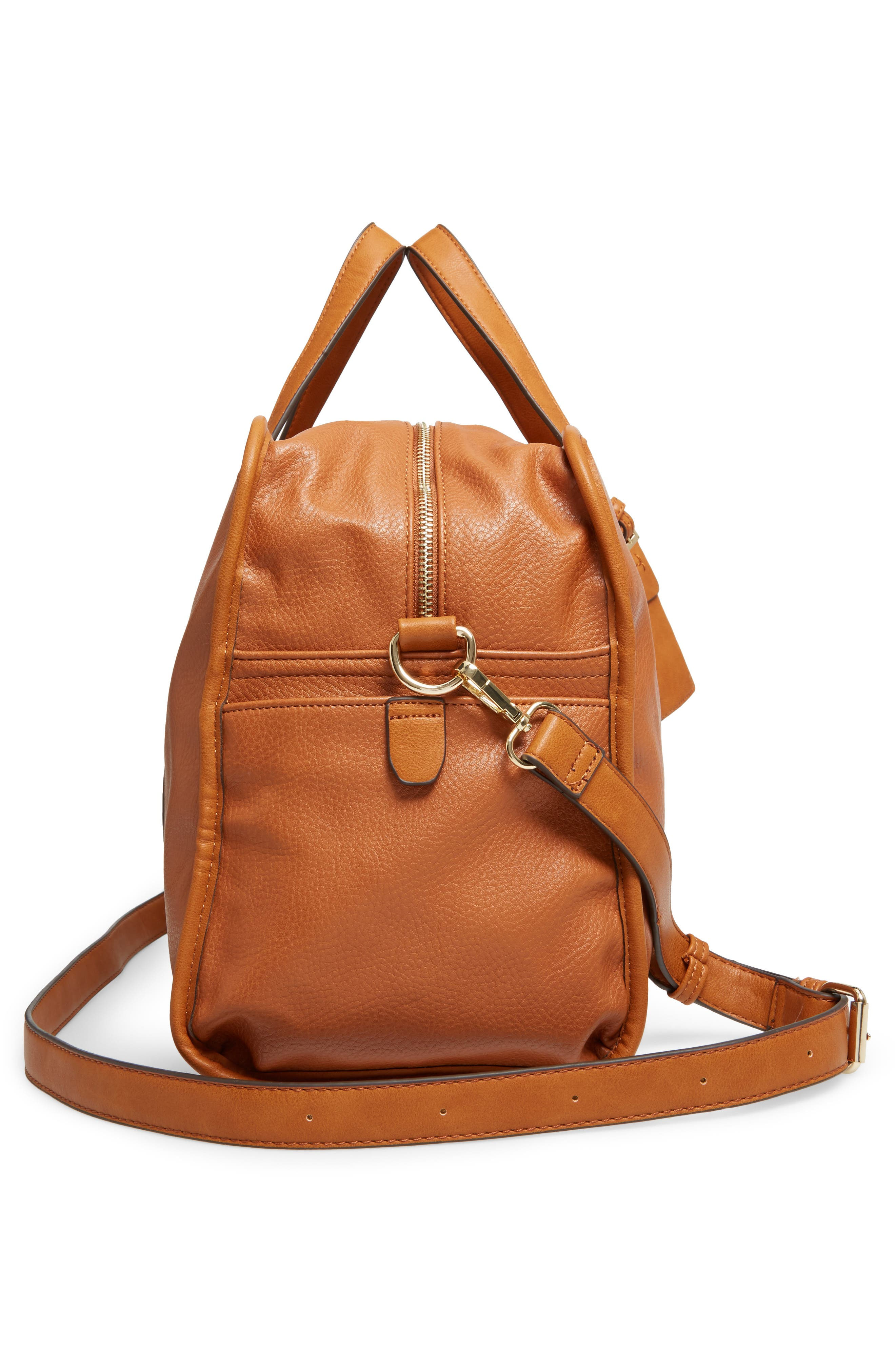Doxin Faux Leather Duffel Bag,                             Alternate thumbnail 10, color,