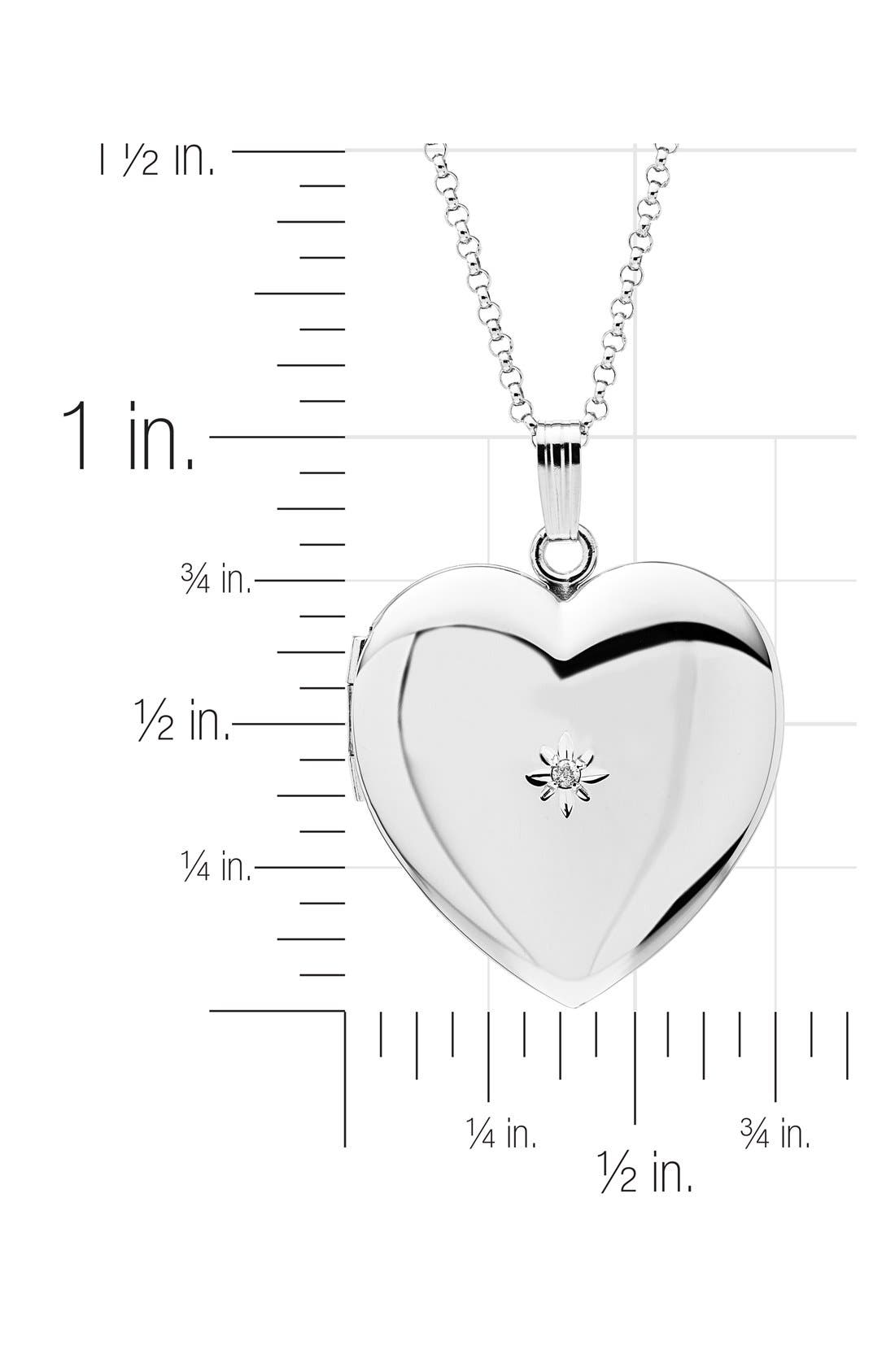 Mother & Daughter Locket Set,                             Alternate thumbnail 4, color,                             SILVER