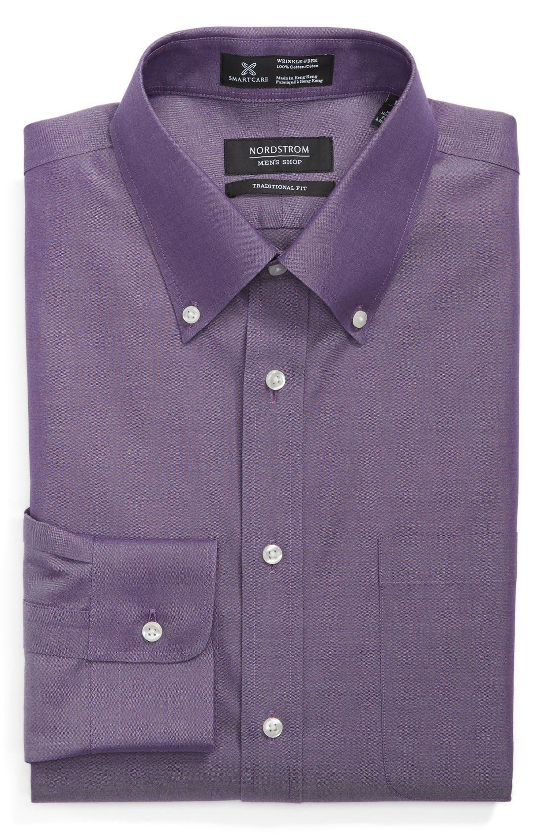 Smartcare<sup>™</sup> Traditional Fit Pinpoint Dress Shirt,                             Main thumbnail 25, color,