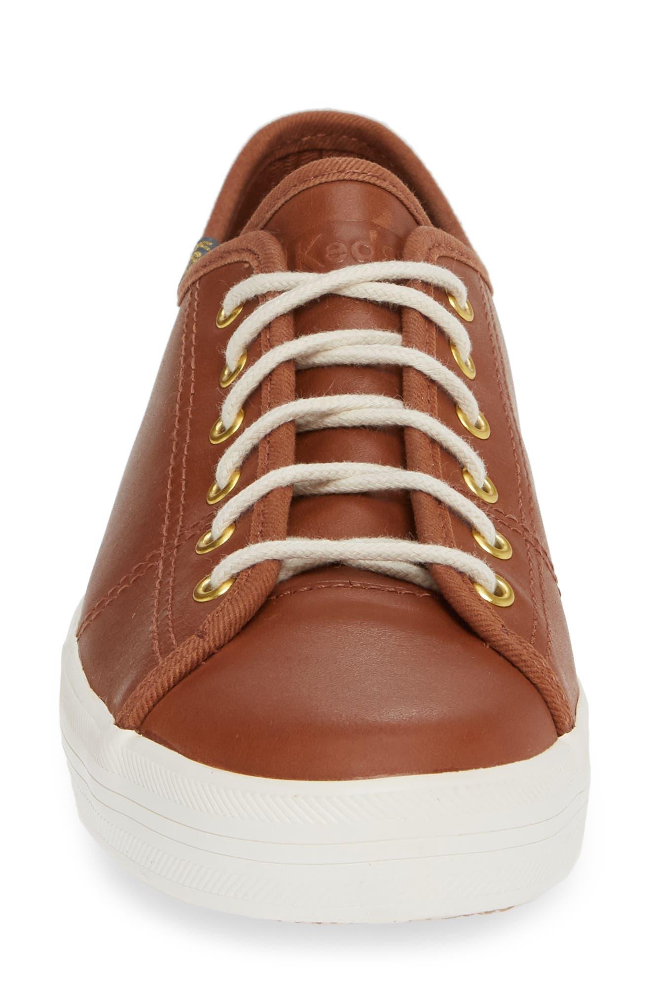 KEDS<SUP>®</SUP>,                             Kickstart Low Top Sneaker,                             Alternate thumbnail 4, color,                             COGNAC