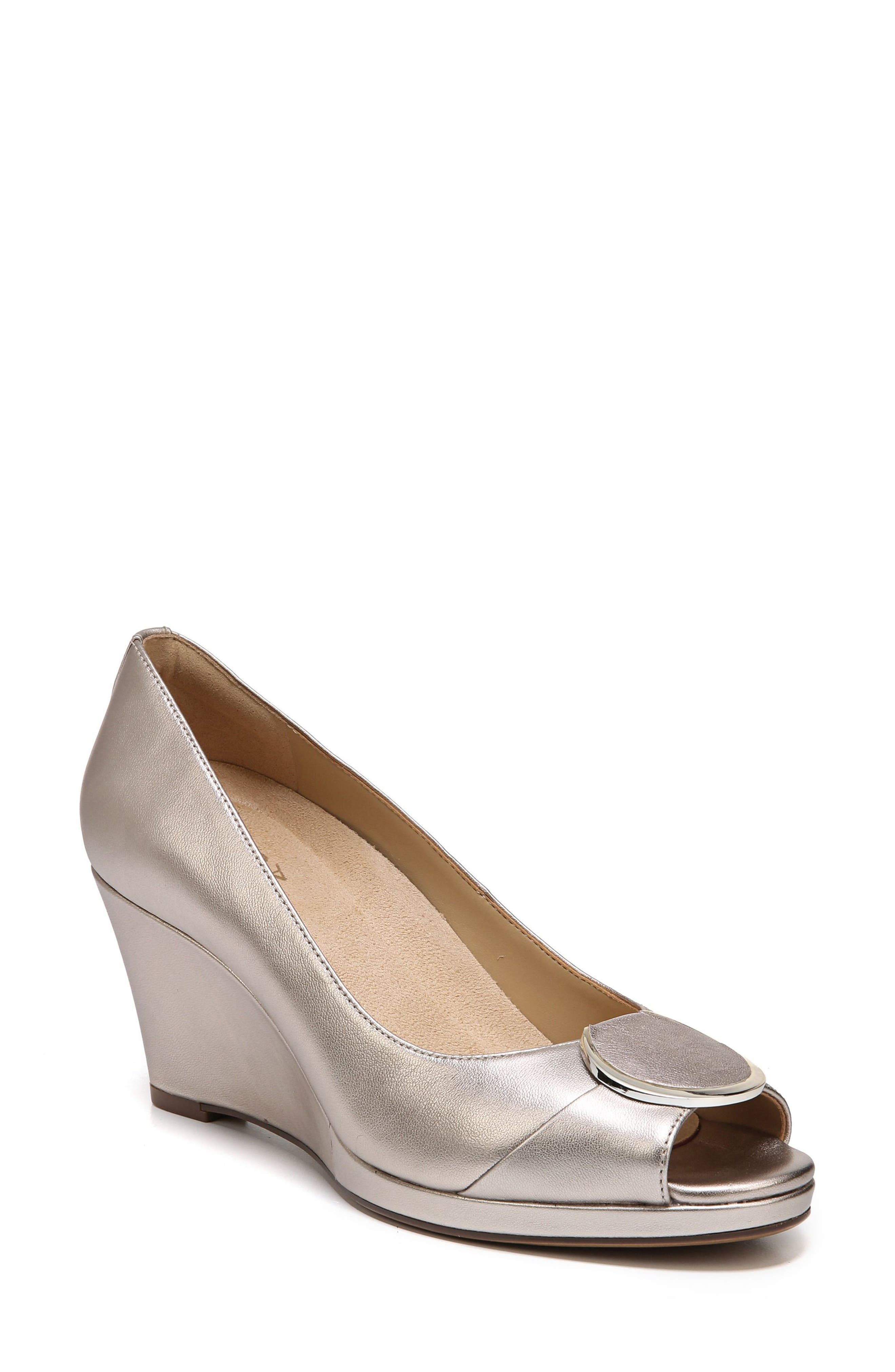 Ollie Peep Toe Wedge,                             Main thumbnail 3, color,
