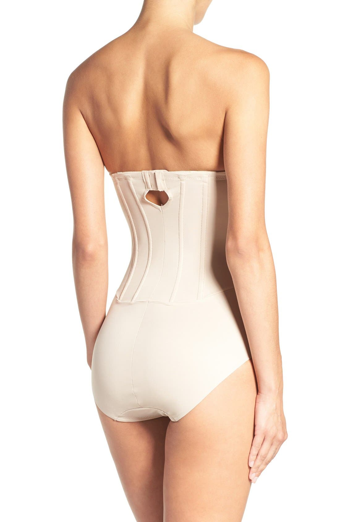 Strapless Shaper Bodysuit,                             Alternate thumbnail 3, color,                             CUPID NUDE
