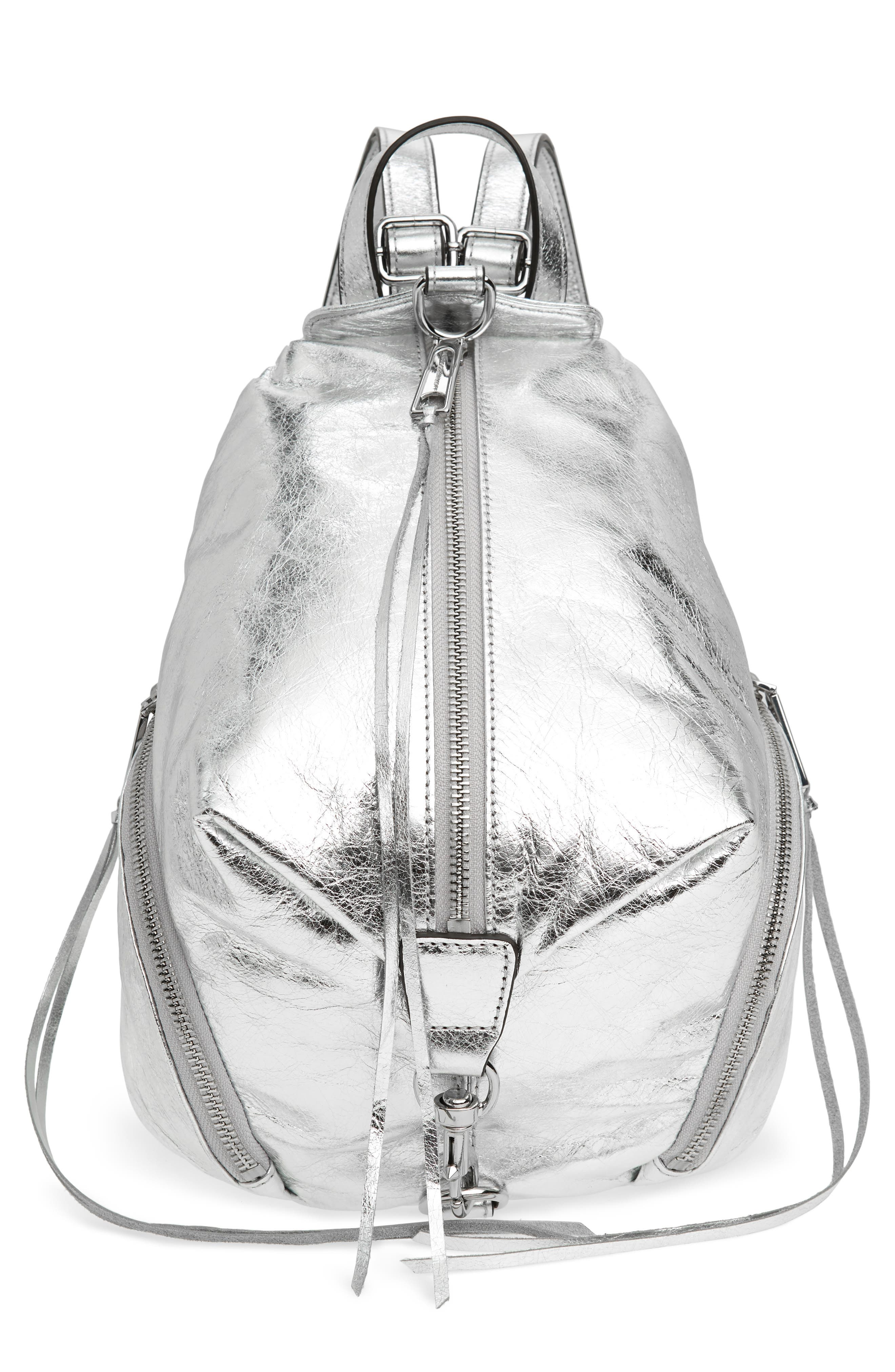 Medium Julian Leather Backpack,                         Main,                         color, 040