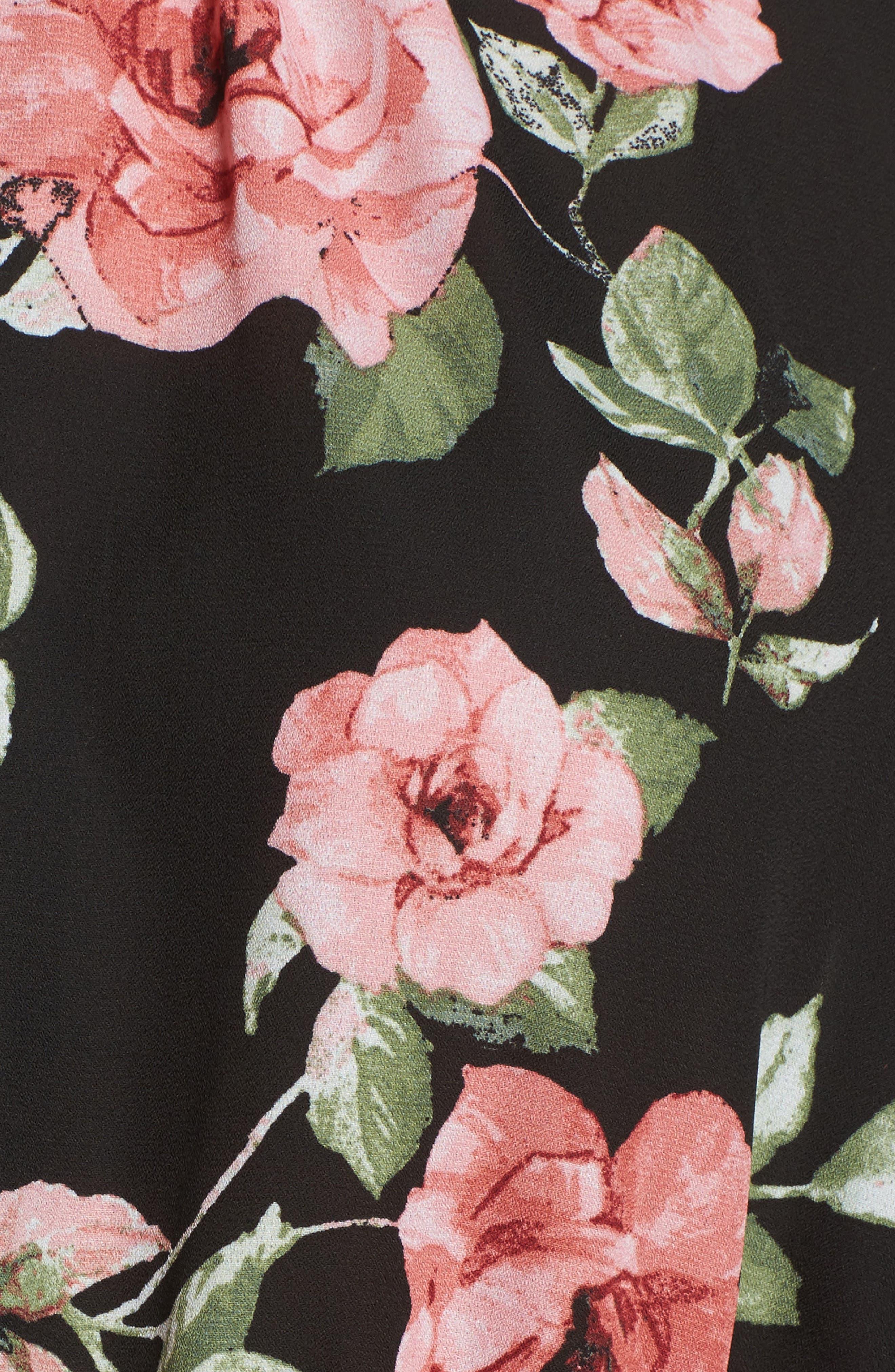 Floral Ruffle Blouse,                             Alternate thumbnail 18, color,