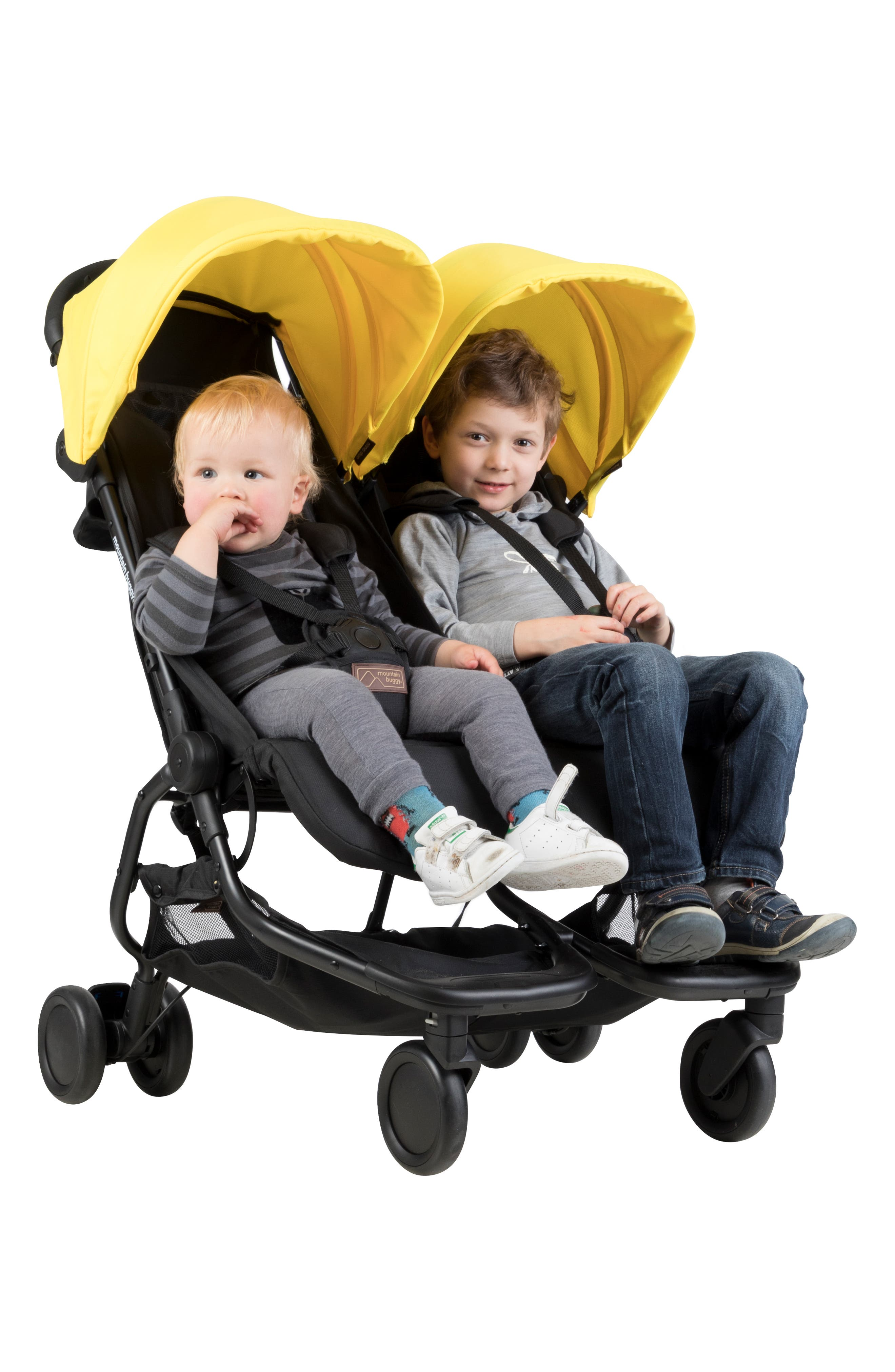 Nano Duo Double Stroller,                             Alternate thumbnail 4, color,                             BLACK