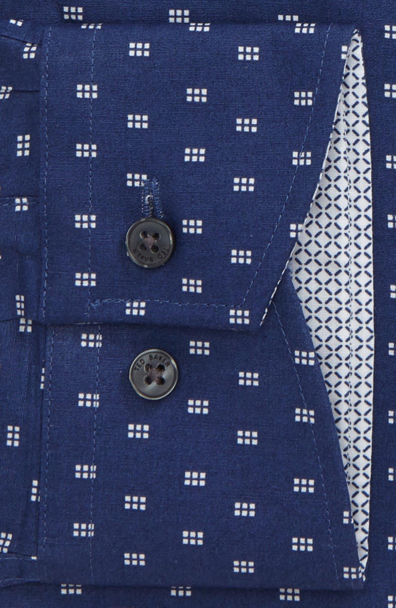 Endurance Trim Fit Dot Print Dress Shirt,                             Alternate thumbnail 2, color,