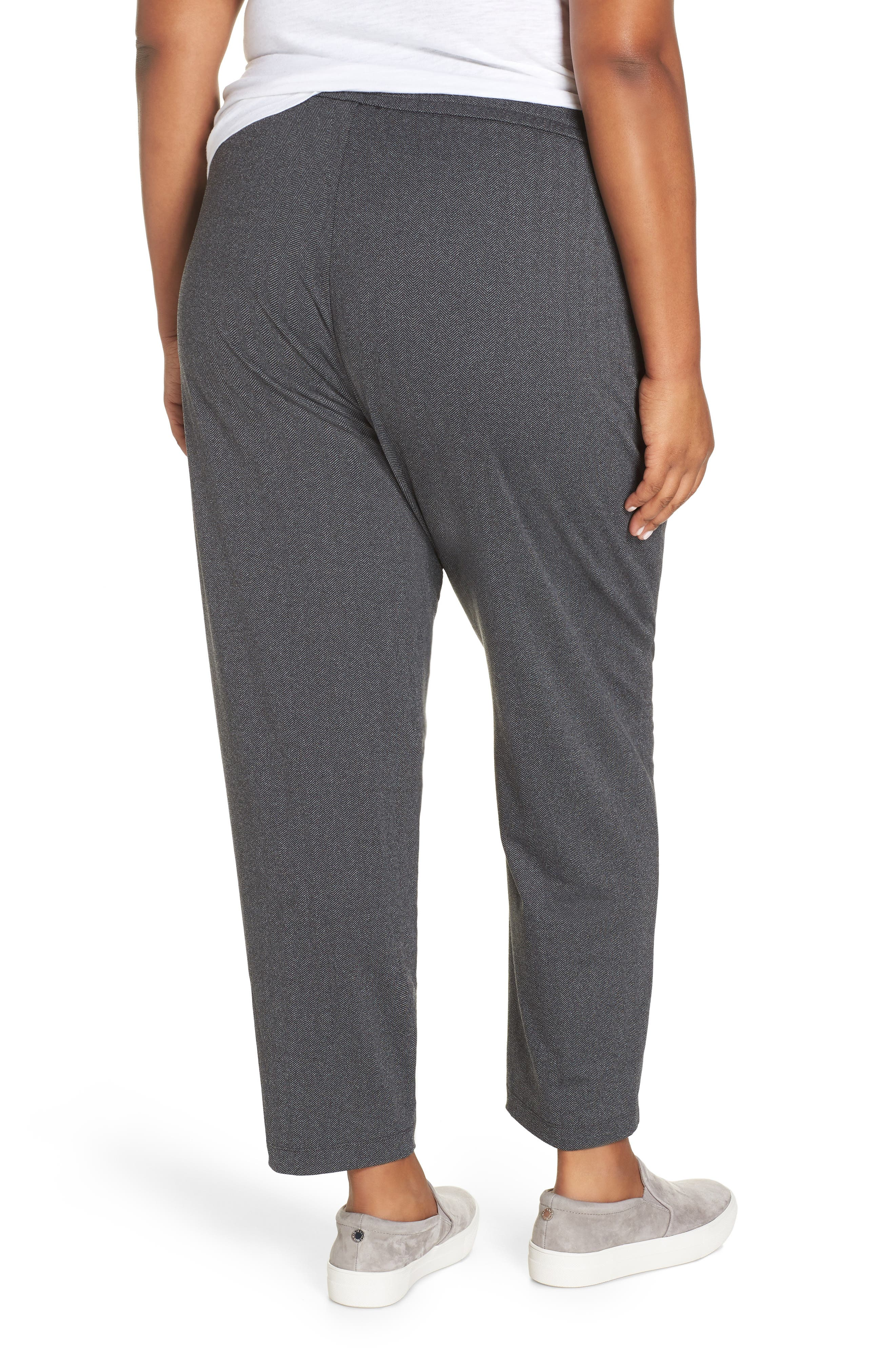 EILEEN FISHER,                             Slouchy Drawstring Pants,                             Alternate thumbnail 2, color,                             021
