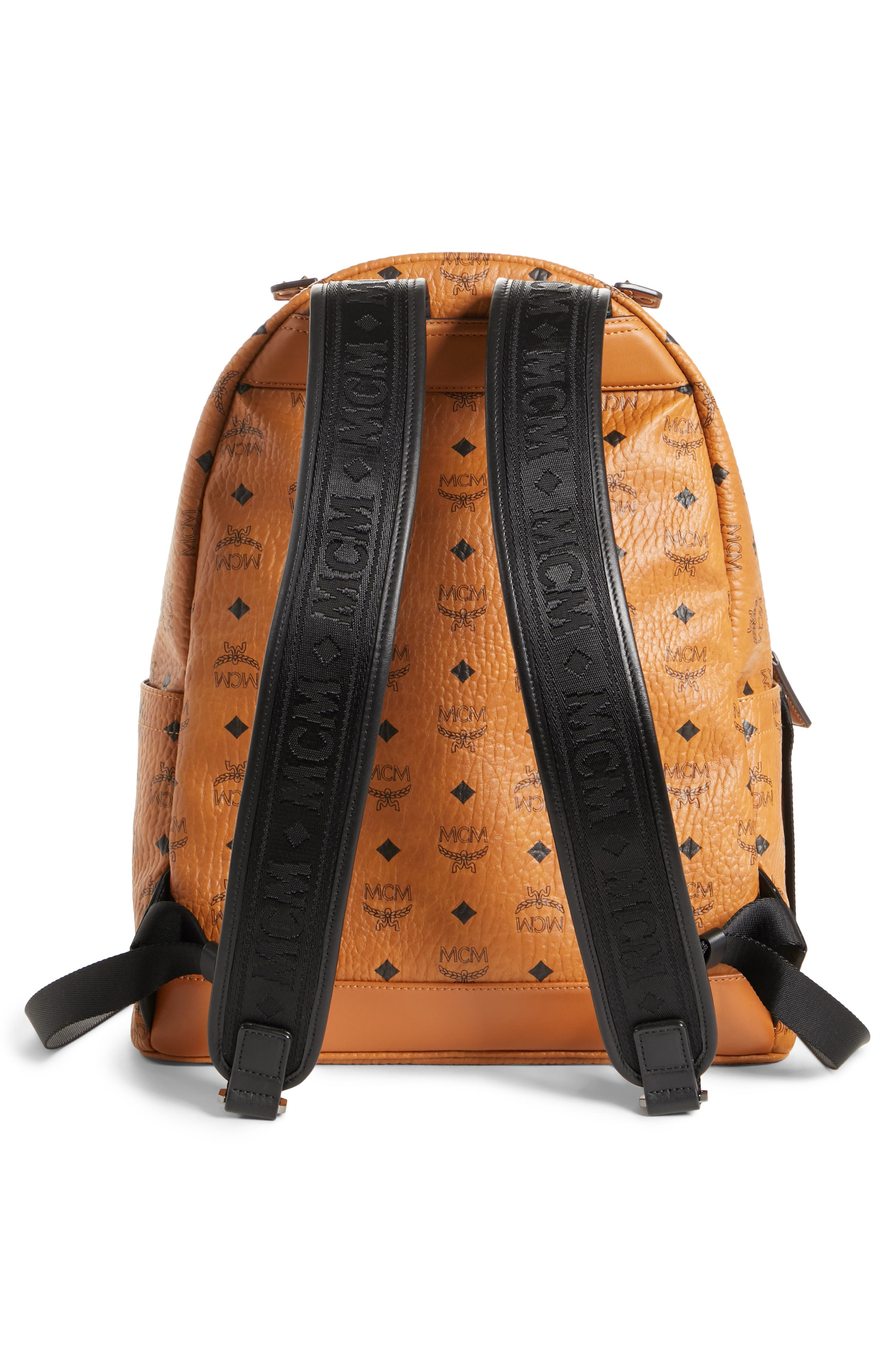 Stark Coated Canvas Backpack,                             Alternate thumbnail 3, color,                             BROWN