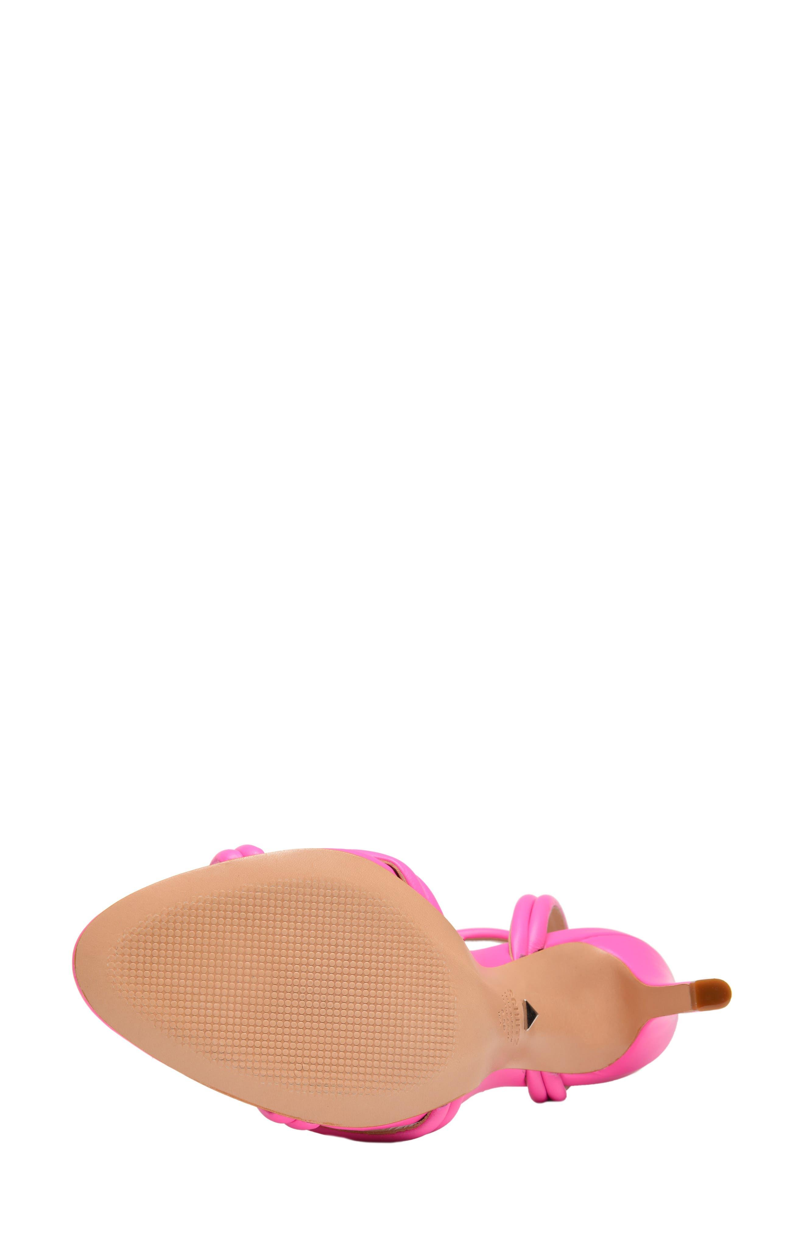 Yvi Strappy Sandal,                             Alternate thumbnail 6, color,                             NEON PINK