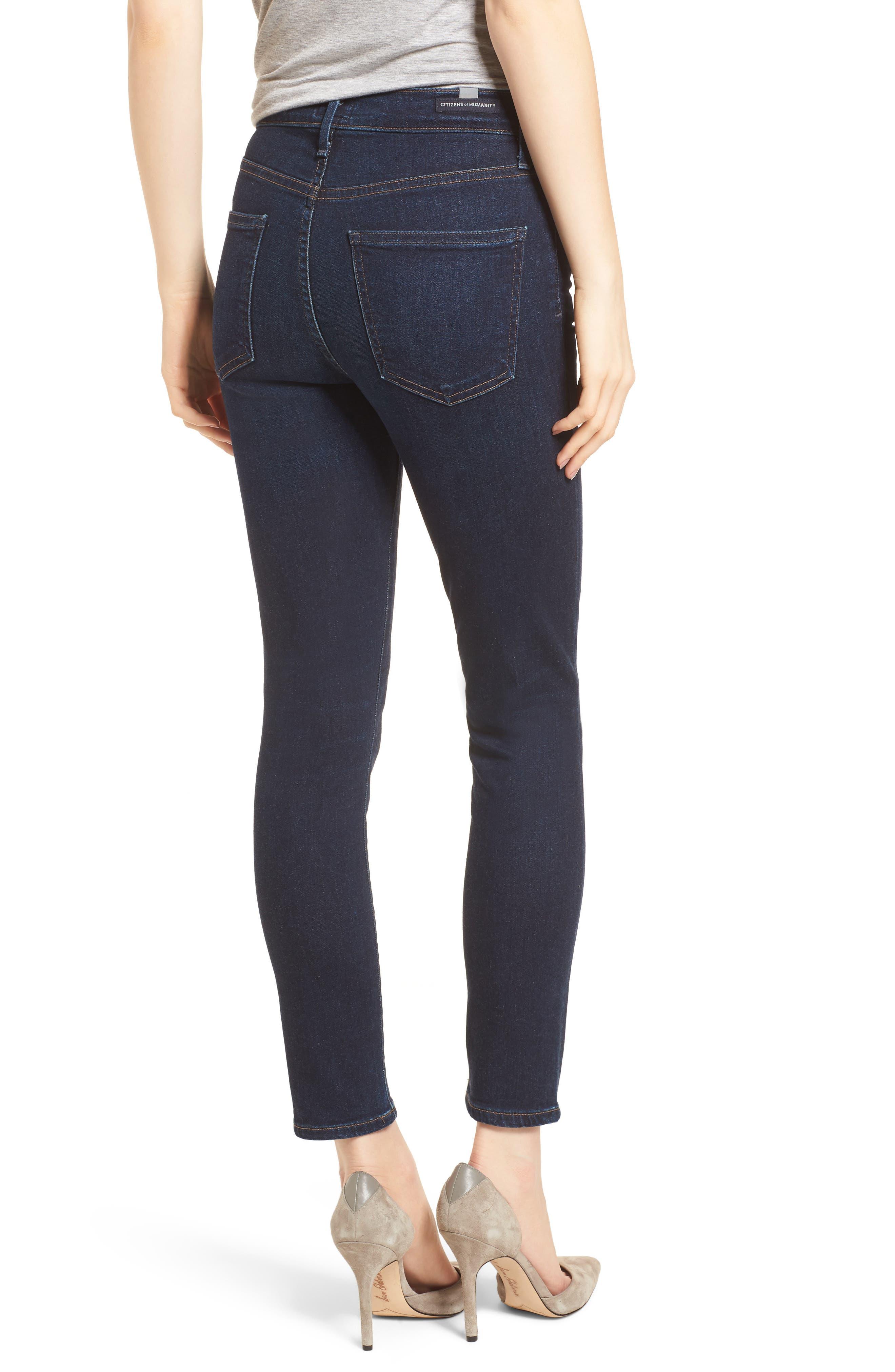 Rocket High Waist Crop Skinny Jeans,                             Alternate thumbnail 2, color,                             484