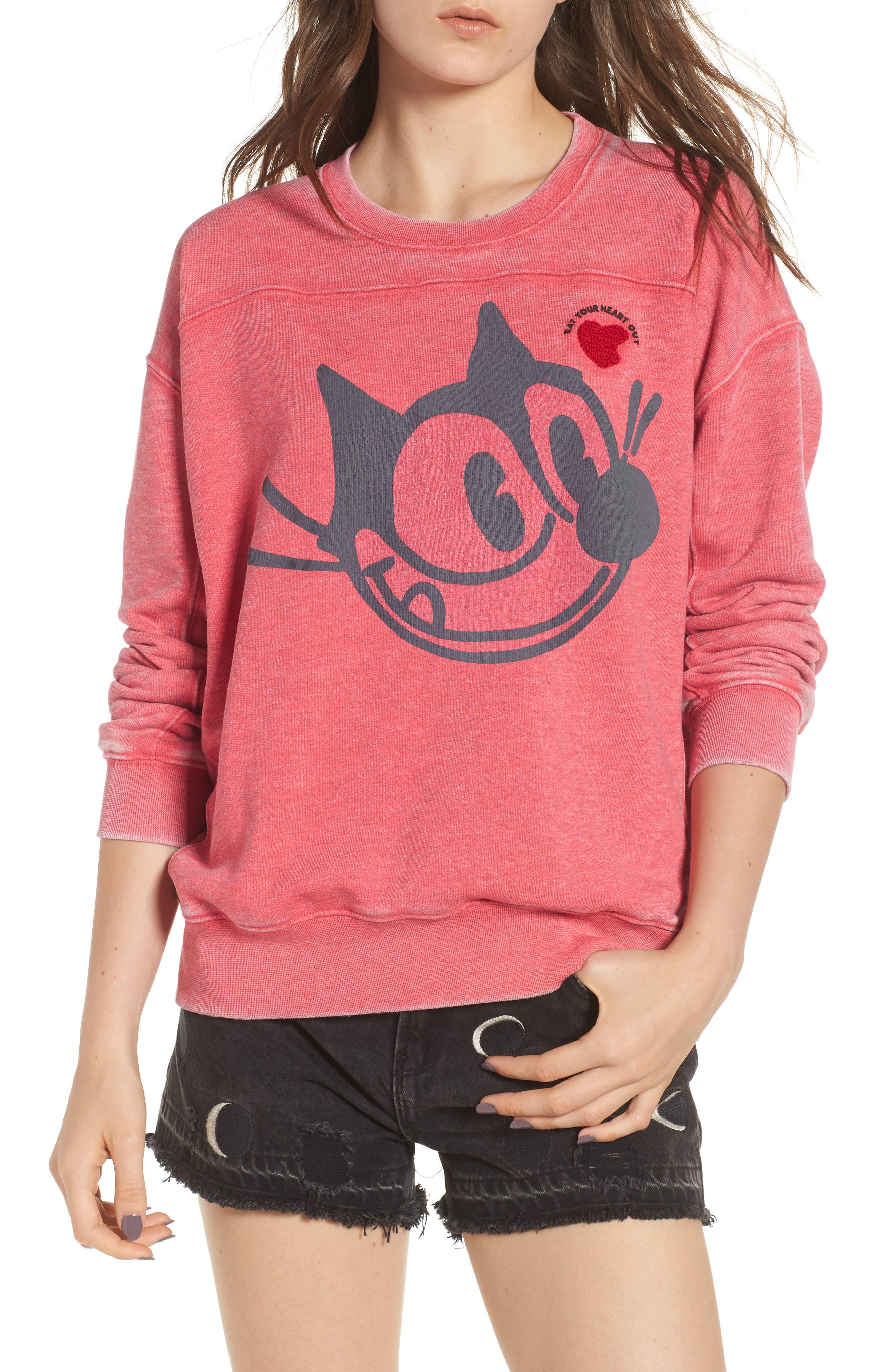 Felix x Scotch & Soda Burnout Appliqué & Graphic Sweatshirt,                         Main,                         color, 610