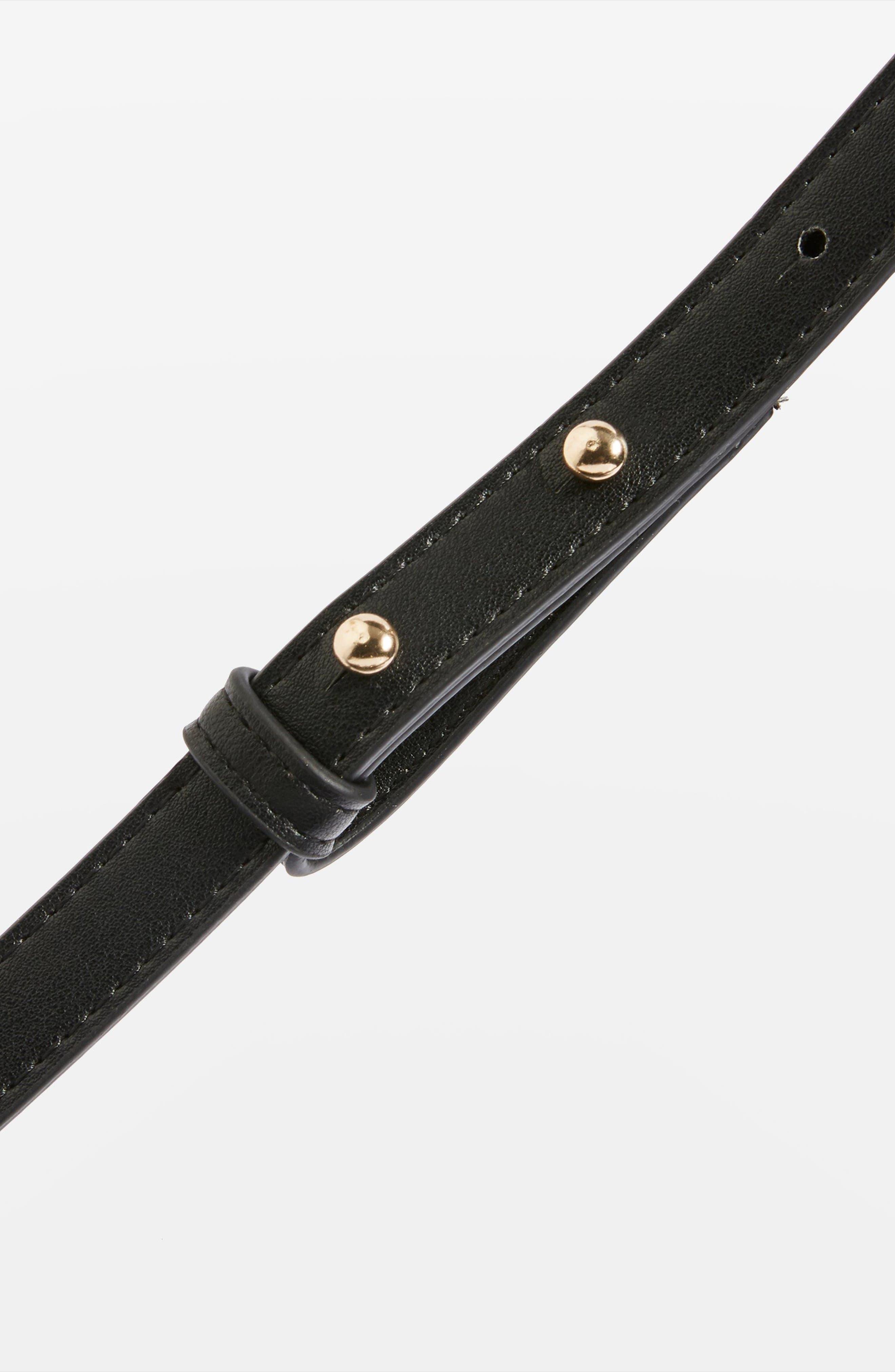 Romy Bucket Shoulder Handbag,                             Alternate thumbnail 4, color,                             001