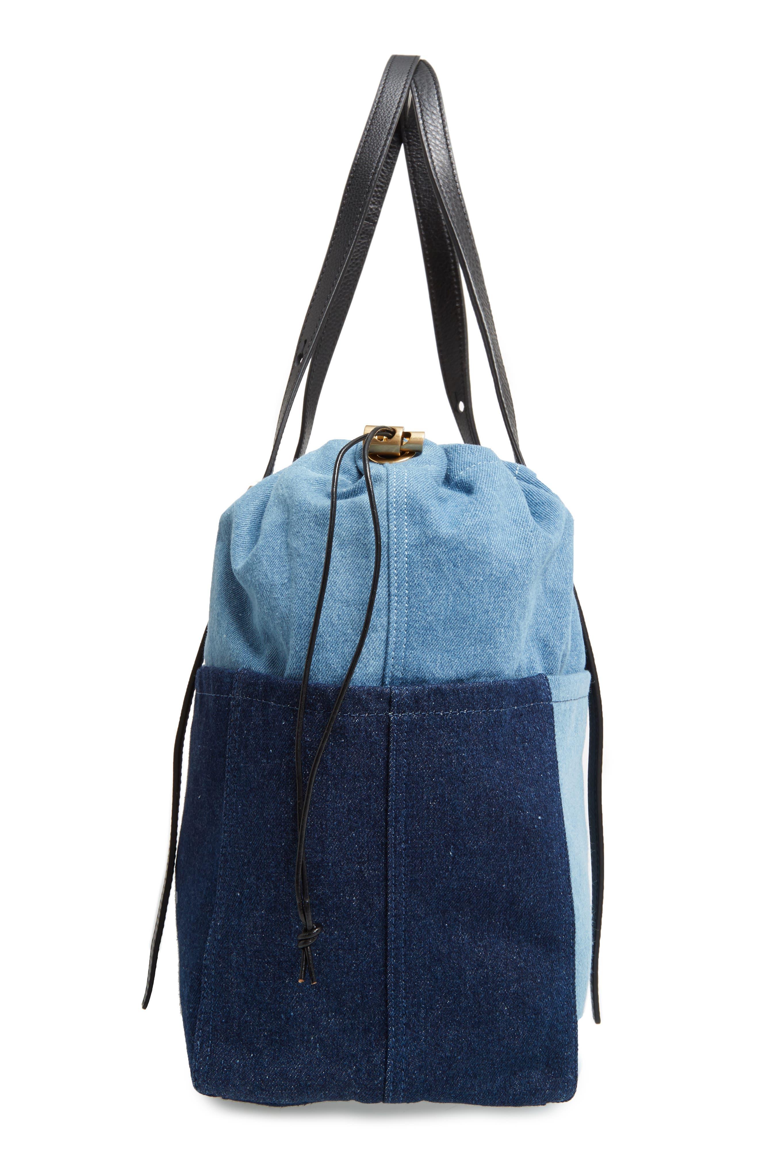 Denim Diaper Bag,                             Alternate thumbnail 5, color,                             460