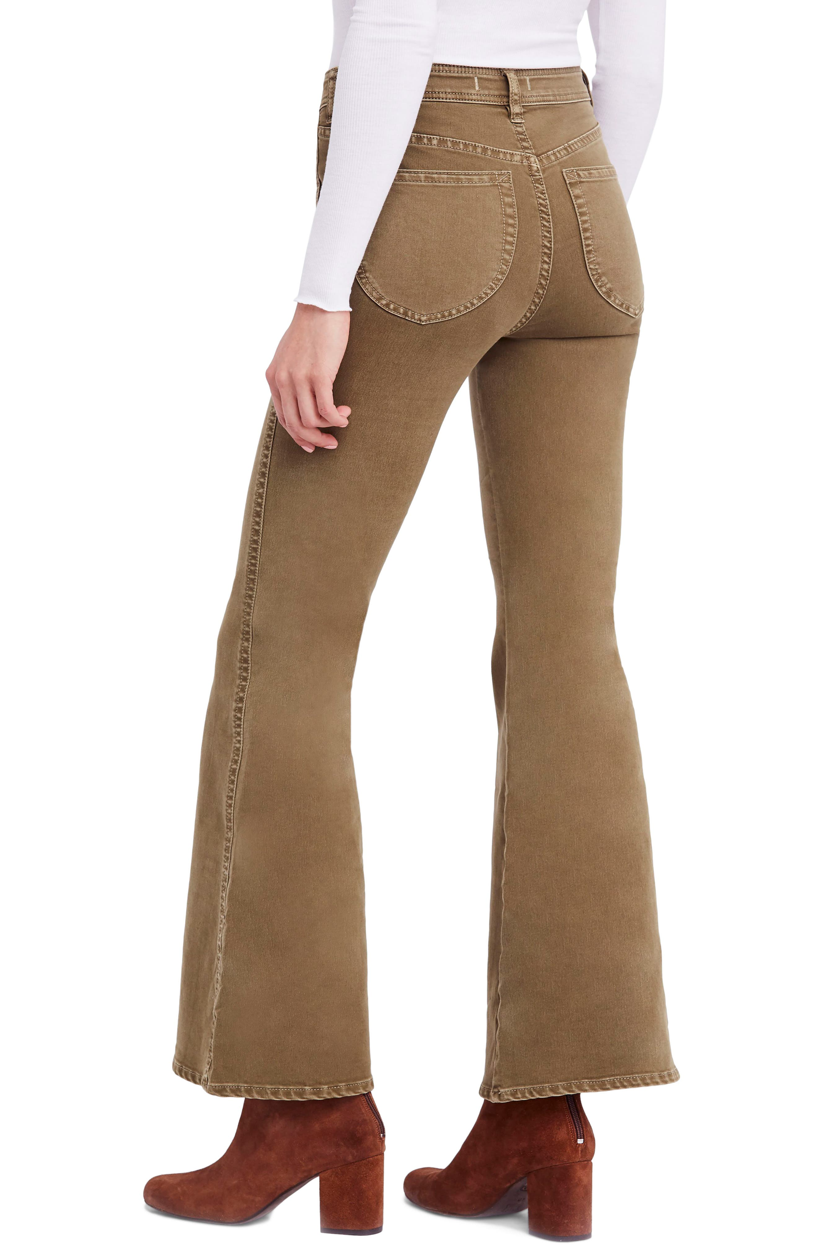 FREE PEOPLE,                             Brooke Flare Jeans,                             Alternate thumbnail 2, color,                             200