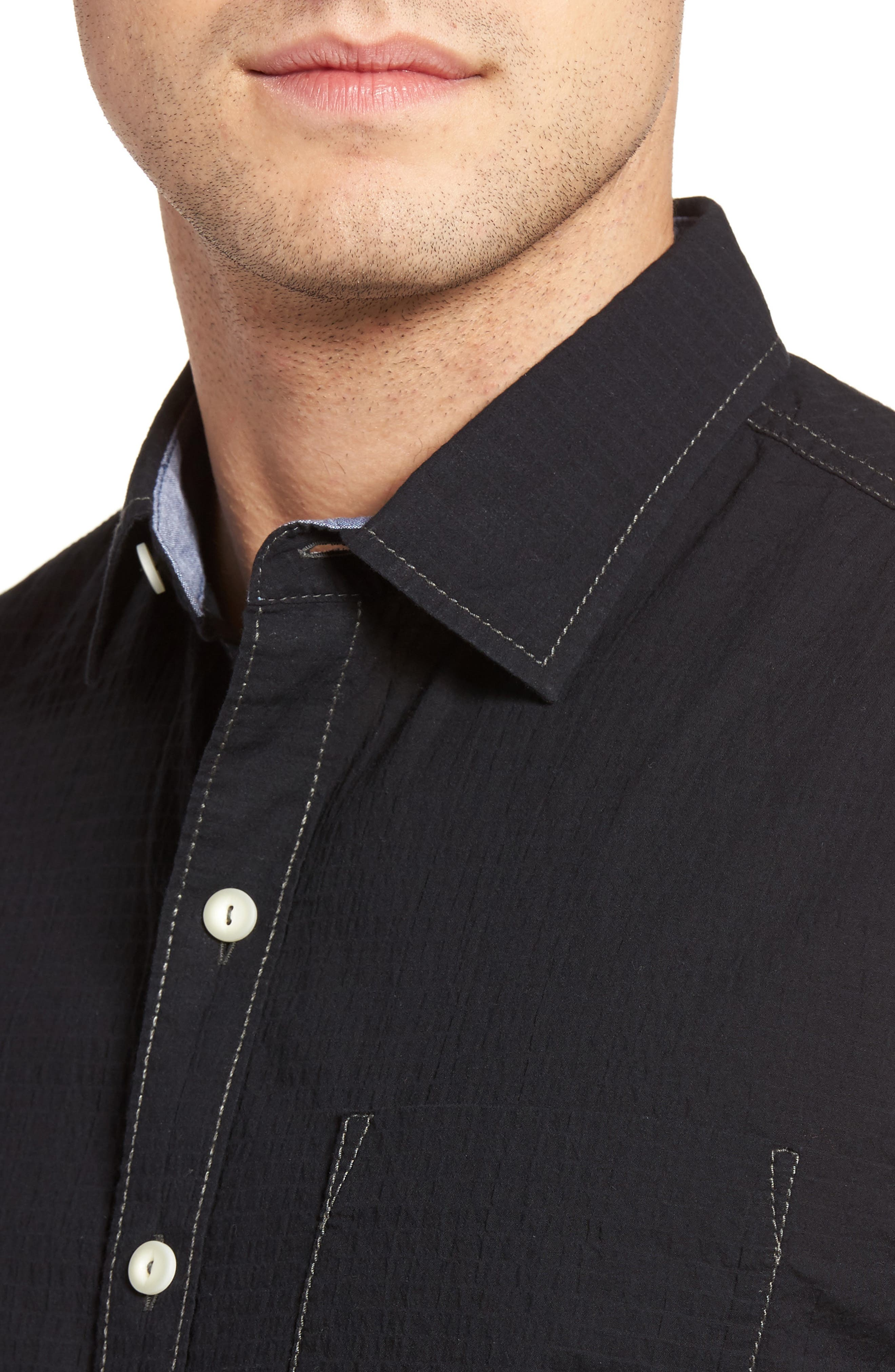 The Salvatore Sport Shirt,                             Alternate thumbnail 4, color,                             001
