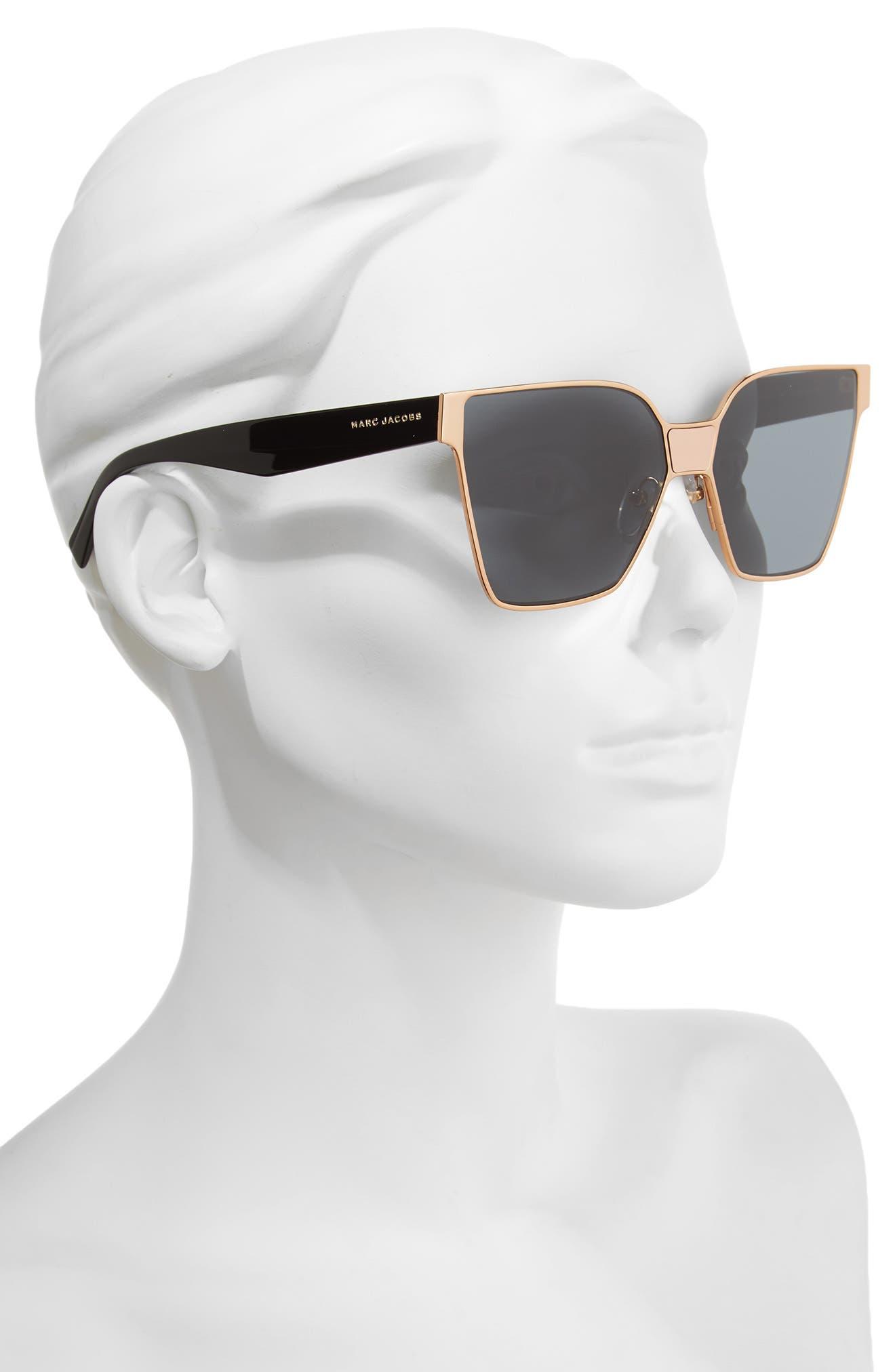 60mm Square Sunglasses,                             Alternate thumbnail 6, color,