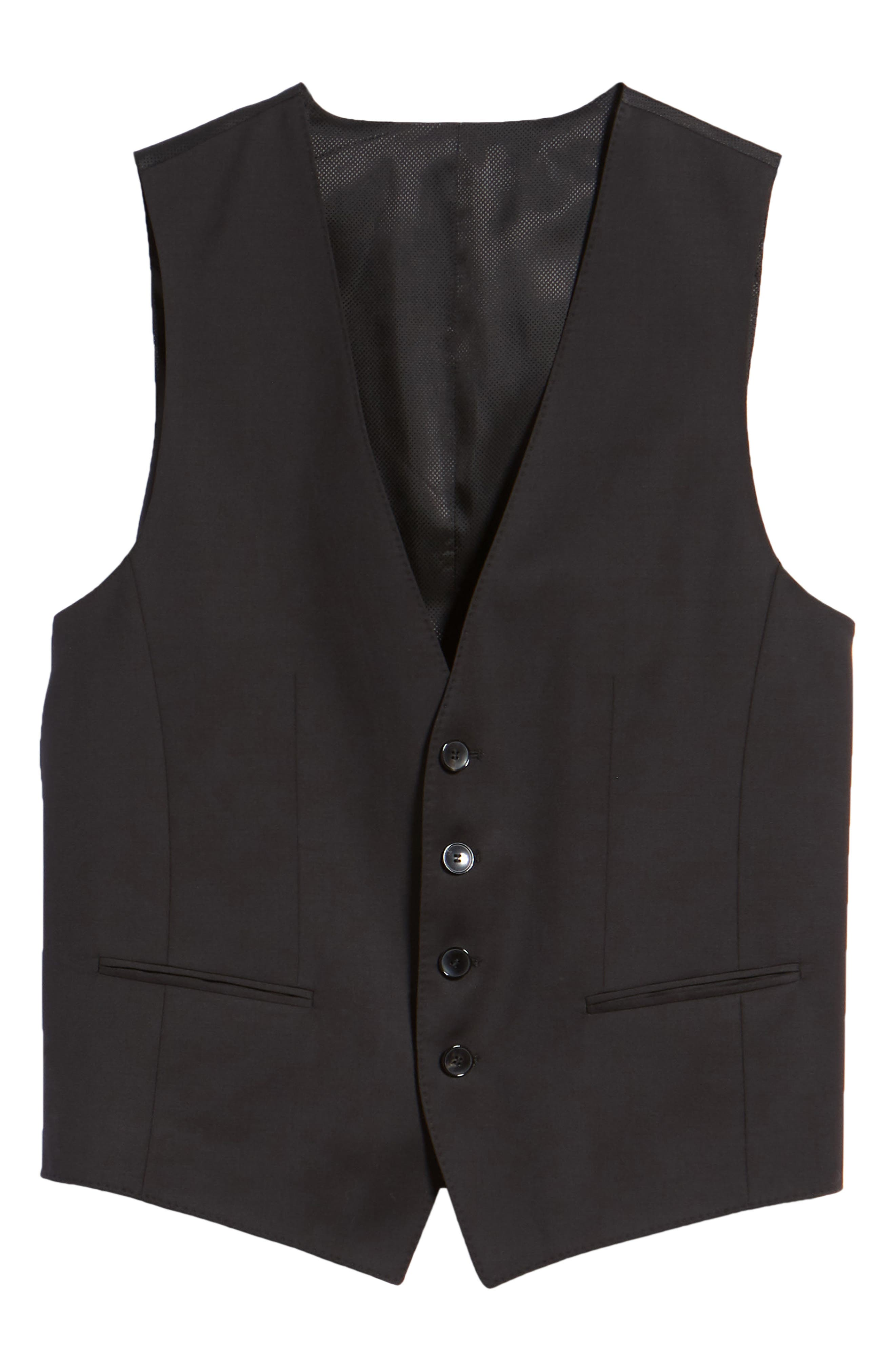 Wilson CYL Trim Fit Vest,                             Alternate thumbnail 5, color,                             BLACK