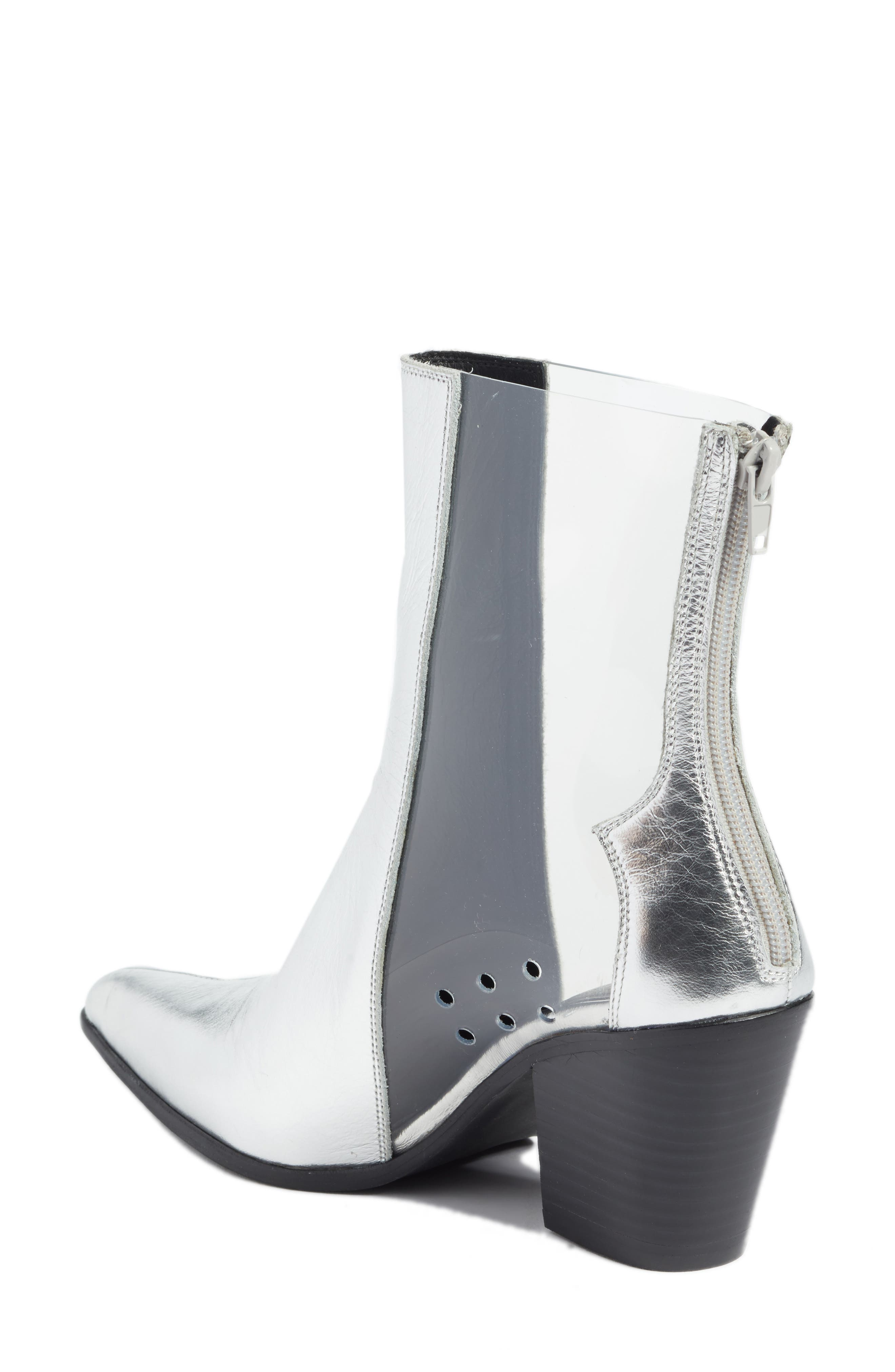 Aliases Boot,                             Alternate thumbnail 2, color,                             SILVER LEATHER