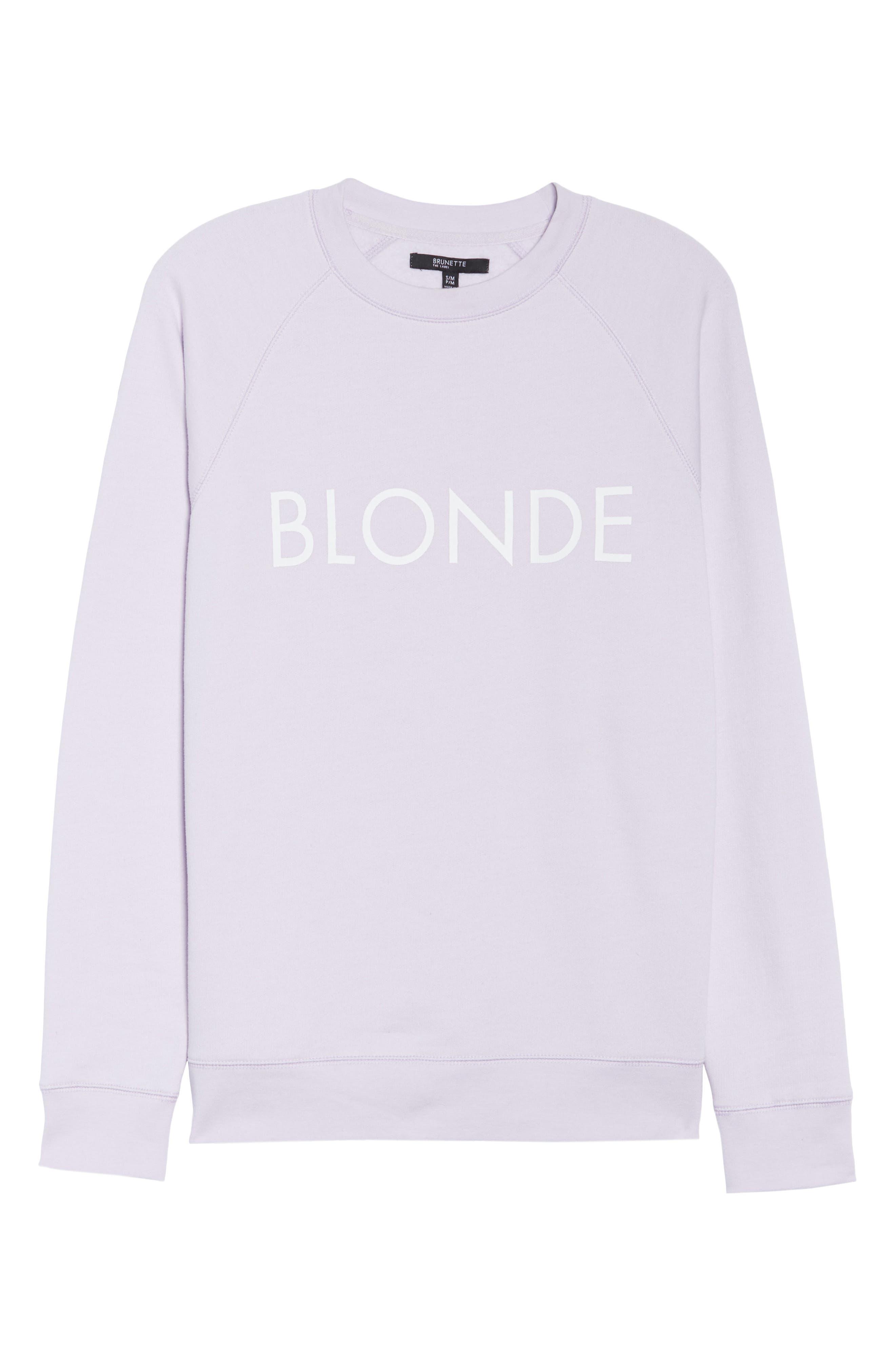 Blonde Sweatshirt,                             Alternate thumbnail 6, color,                             SOFT LAVENDER