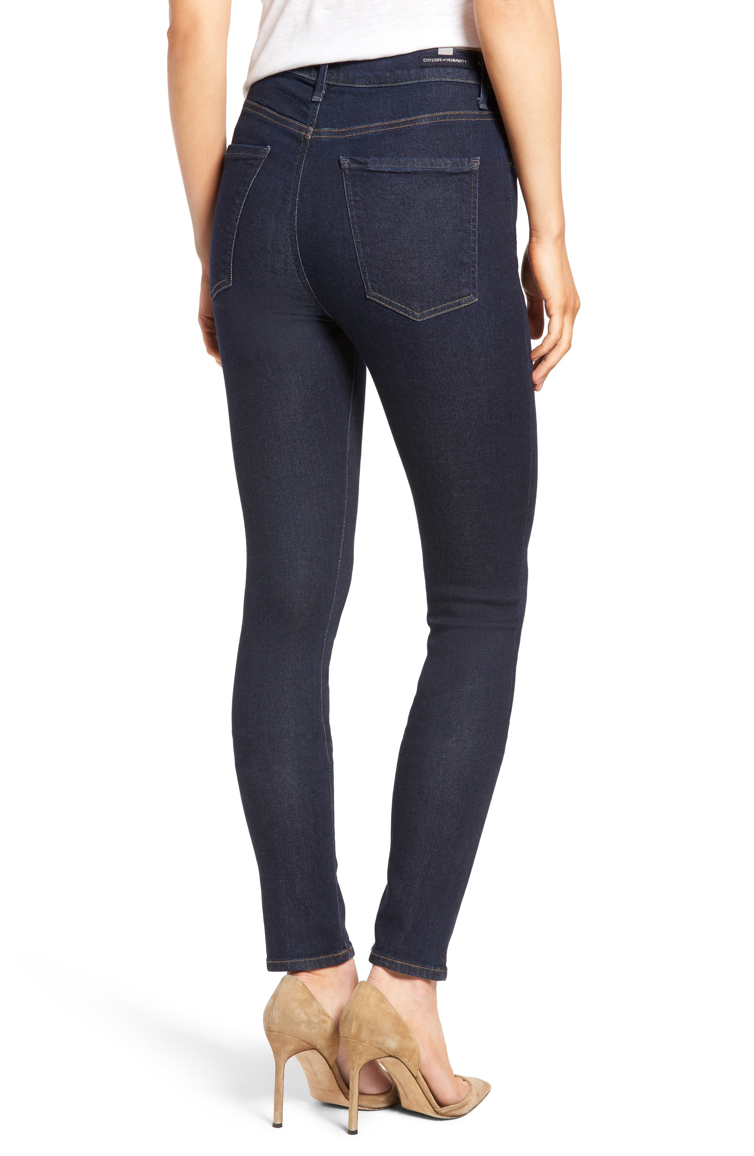 Carlie High Waist Skinny Jeans,                             Alternate thumbnail 2, color,                             OZONE RINSE
