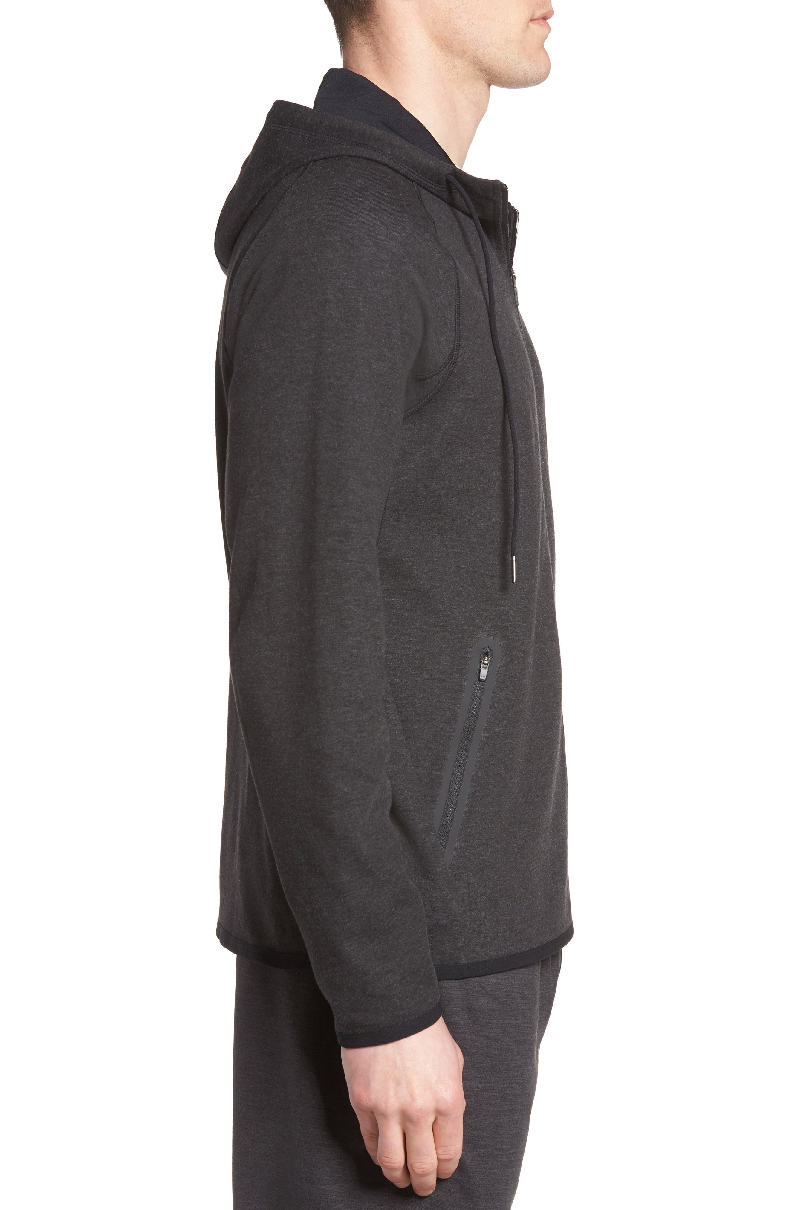 Tech Knit Hoodie,                             Alternate thumbnail 3, color,                             001