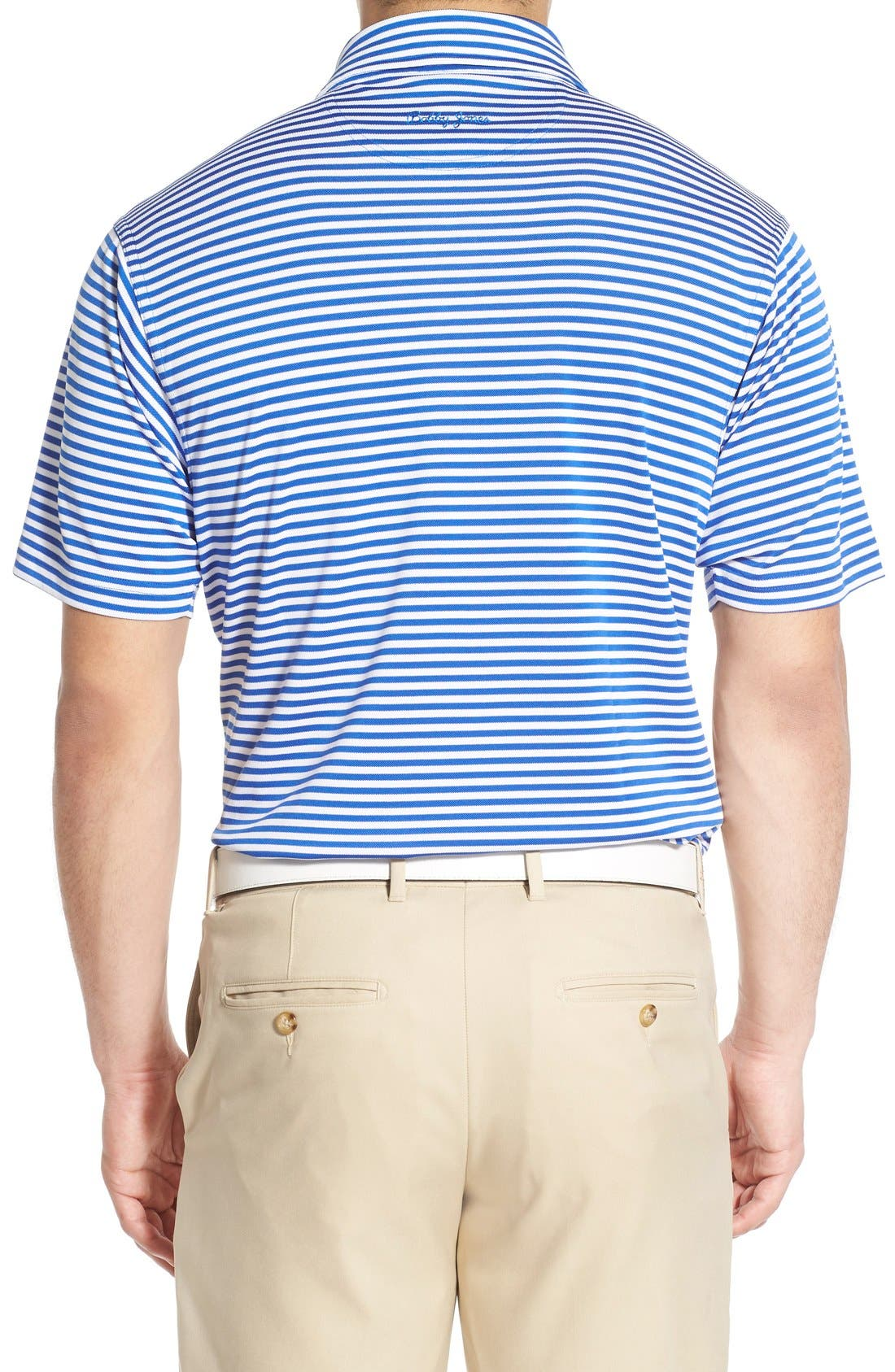 XH2O Feed Stripe Stretch Golf Polo,                             Alternate thumbnail 27, color,