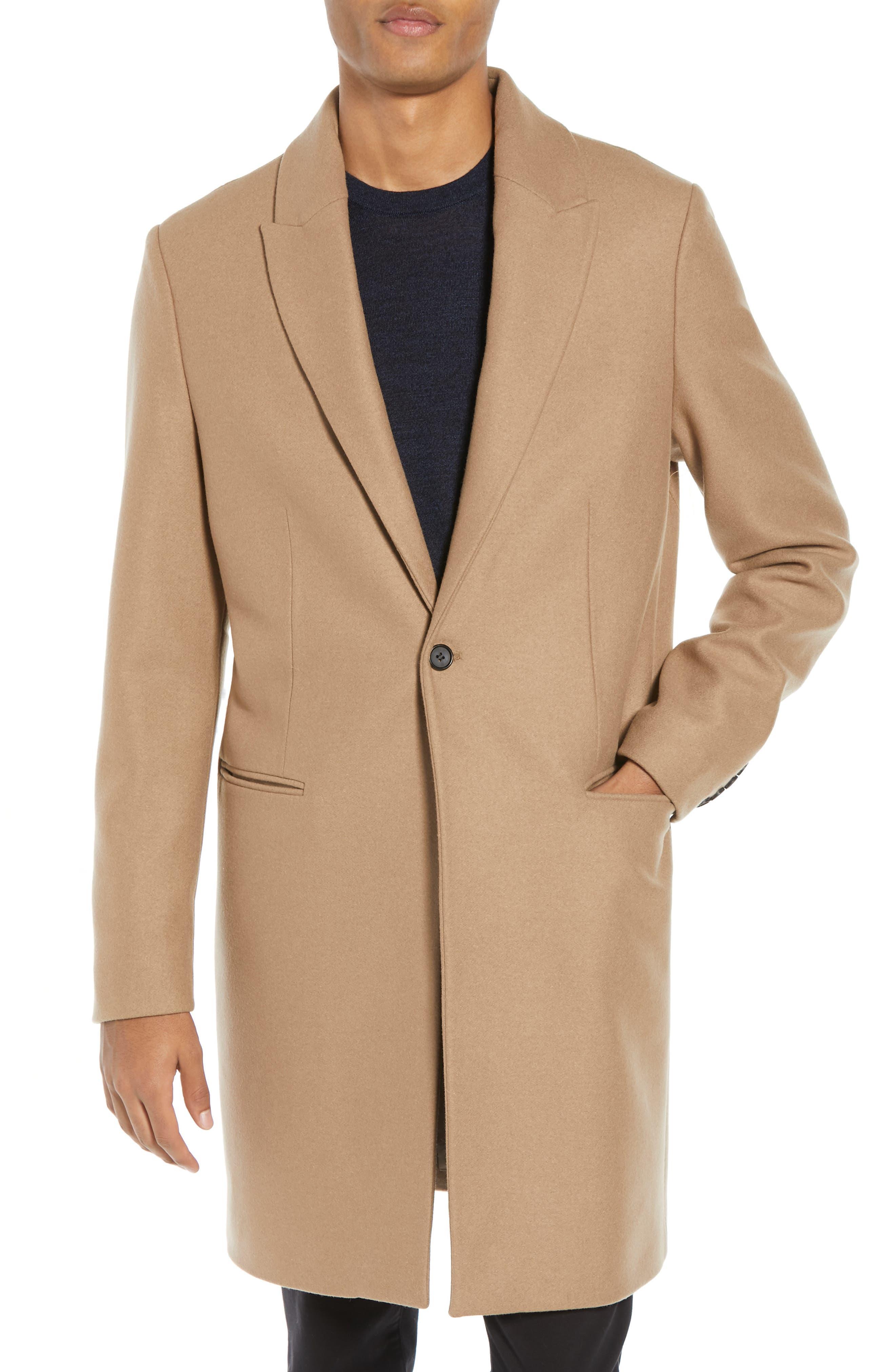 Tulsen Regular Fit Wool Topcoat,                             Alternate thumbnail 4, color,                             200