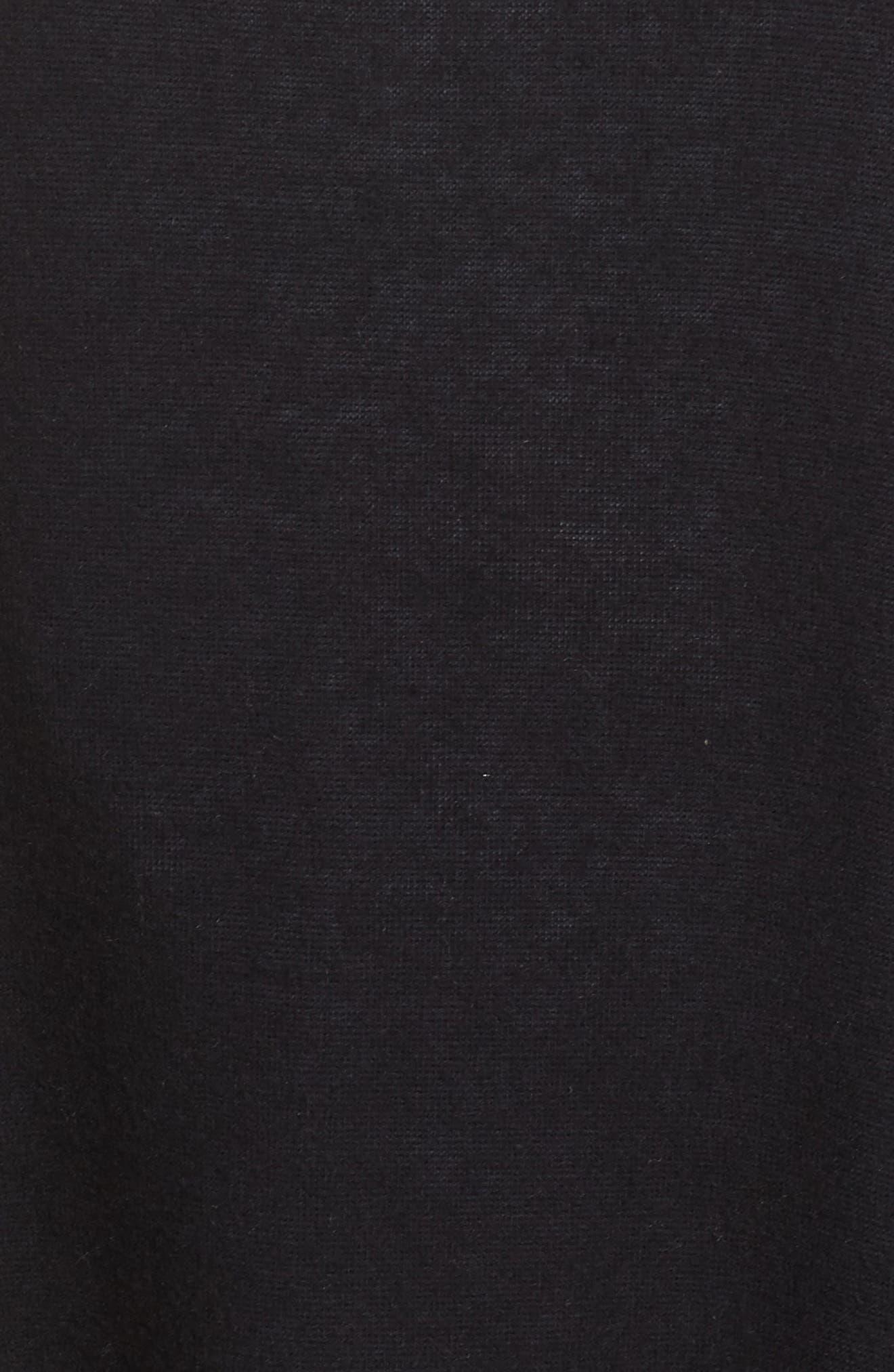 Knit Poncho,                             Alternate thumbnail 5, color,                             001
