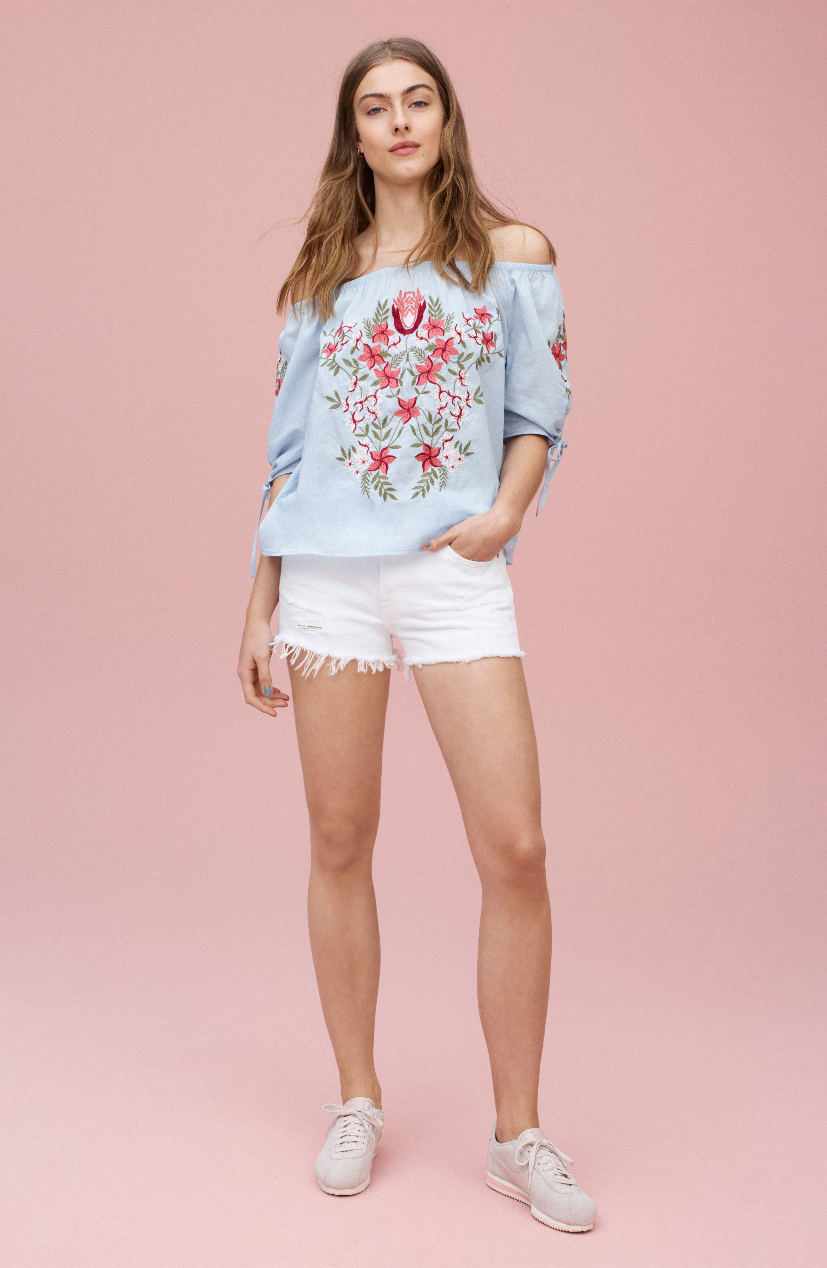LEVI'S<SUP>®</SUP>,                             501<sup>®</sup> Cutoff Denim Shorts,                             Alternate thumbnail 8, color,                             101