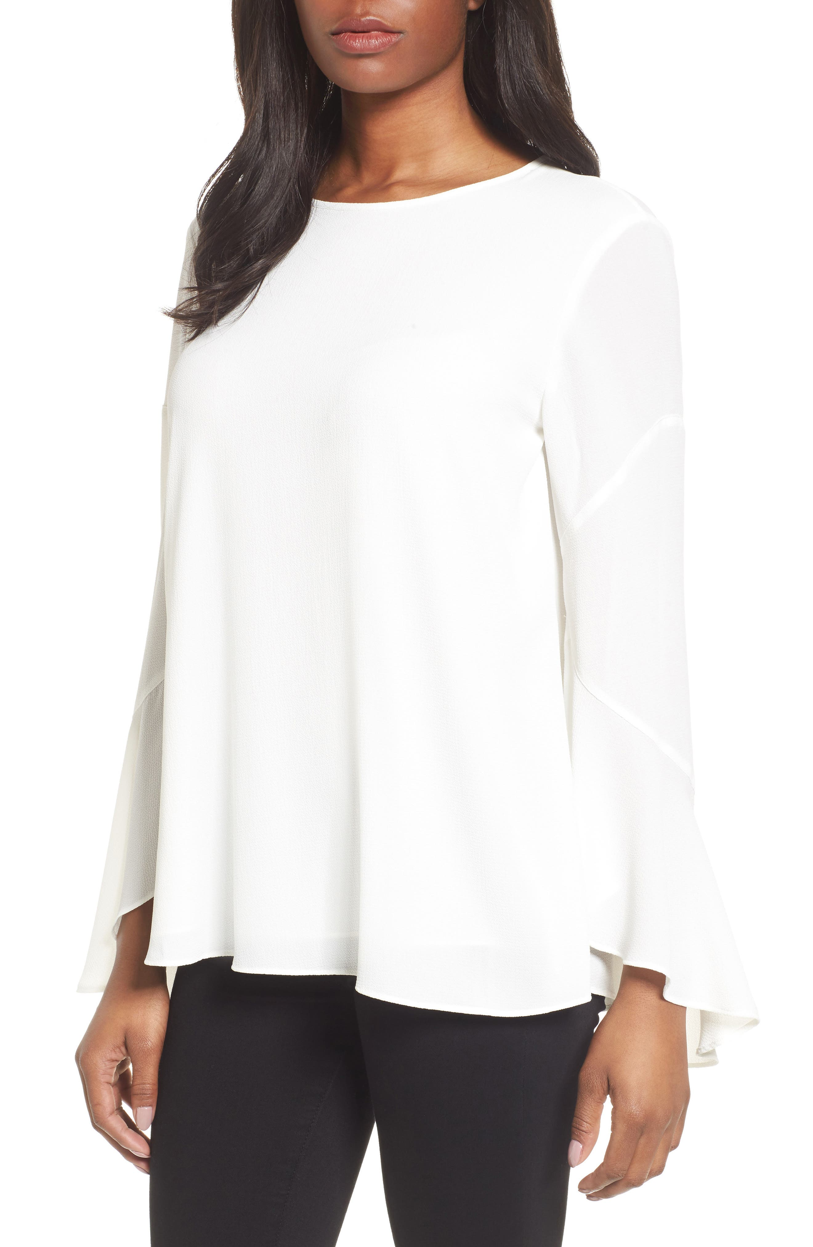Flared Cuff Blouse,                         Main,                         color, 103