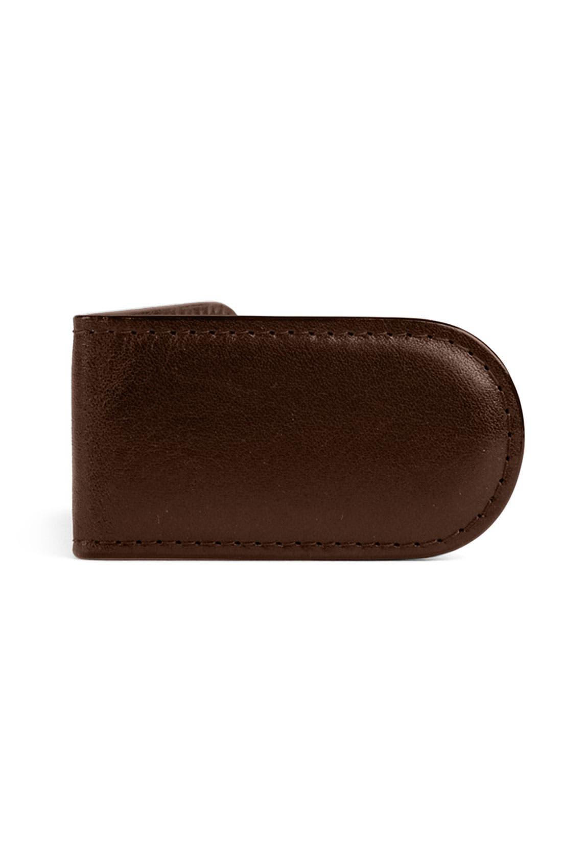 Leather Money Clip,                             Main thumbnail 3, color,