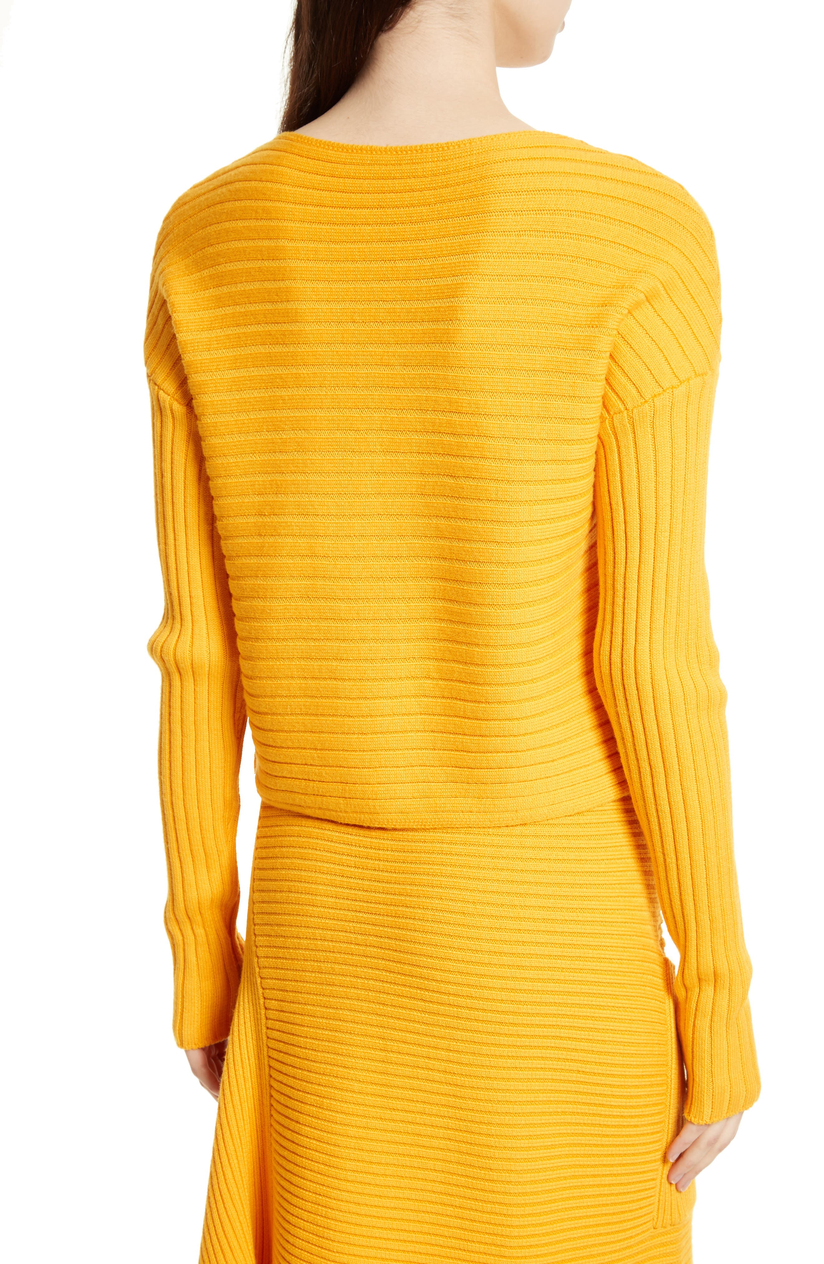 Ribbed Wool Sweater,                             Alternate thumbnail 4, color,