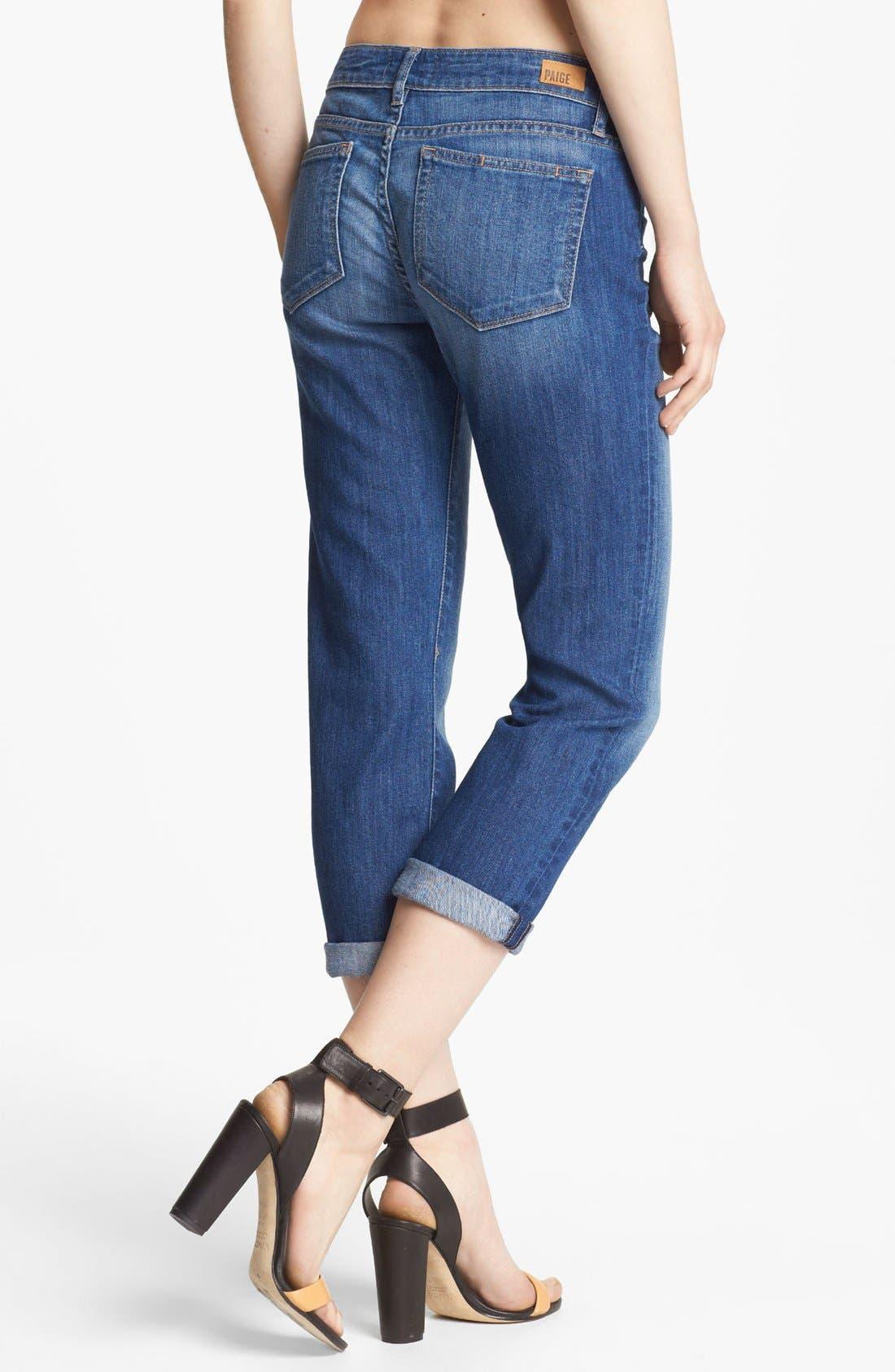 Denim 'James' Crop Jeans,                             Alternate thumbnail 2, color,