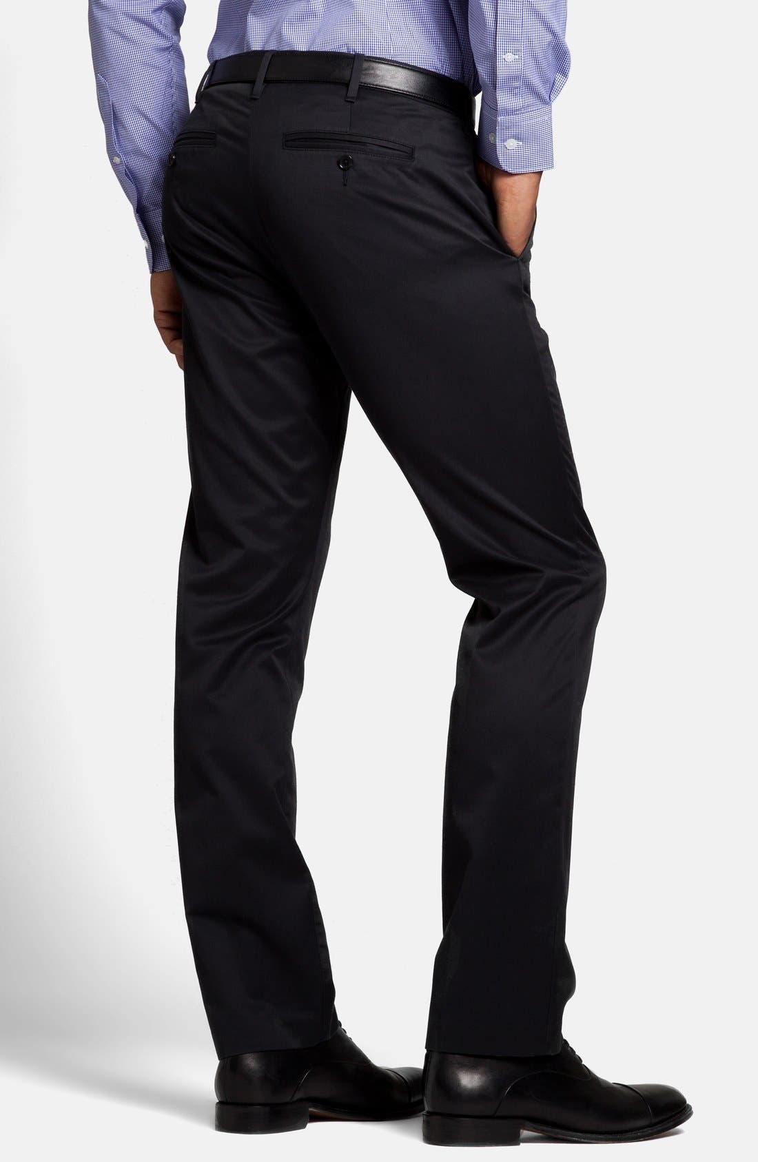 'Weekday Warriors' Non-Iron Slim Fit Cotton Chinos,                             Alternate thumbnail 3, color,                             001