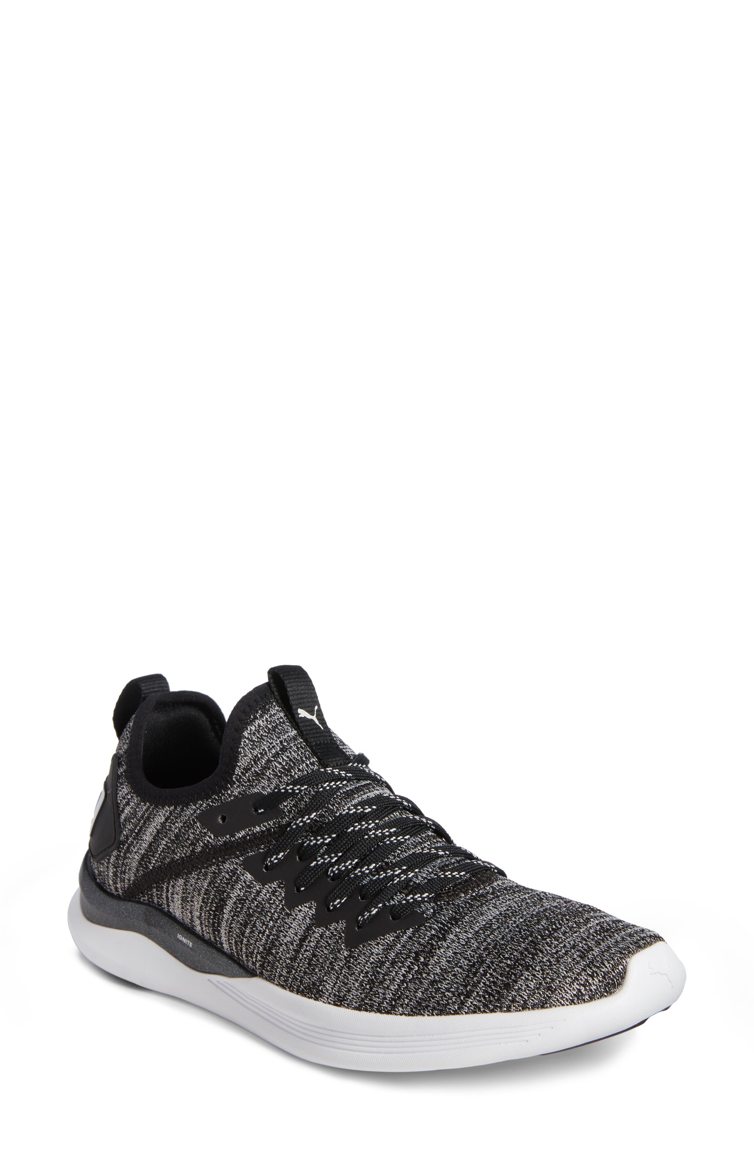 PUMA IGNITE Flash evoKNIT Training Shoe, Main, color, 001