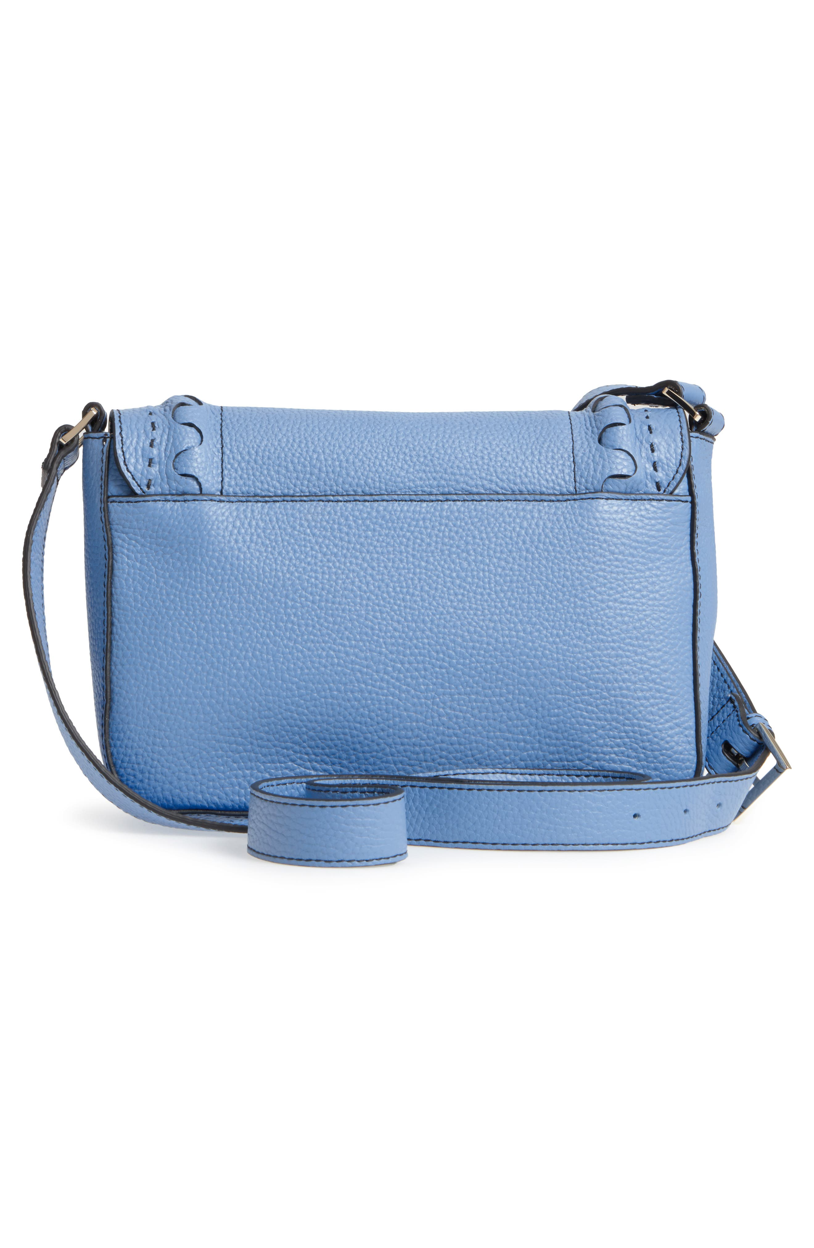 Tippi Leather Crossbody Bag,                             Alternate thumbnail 8, color,