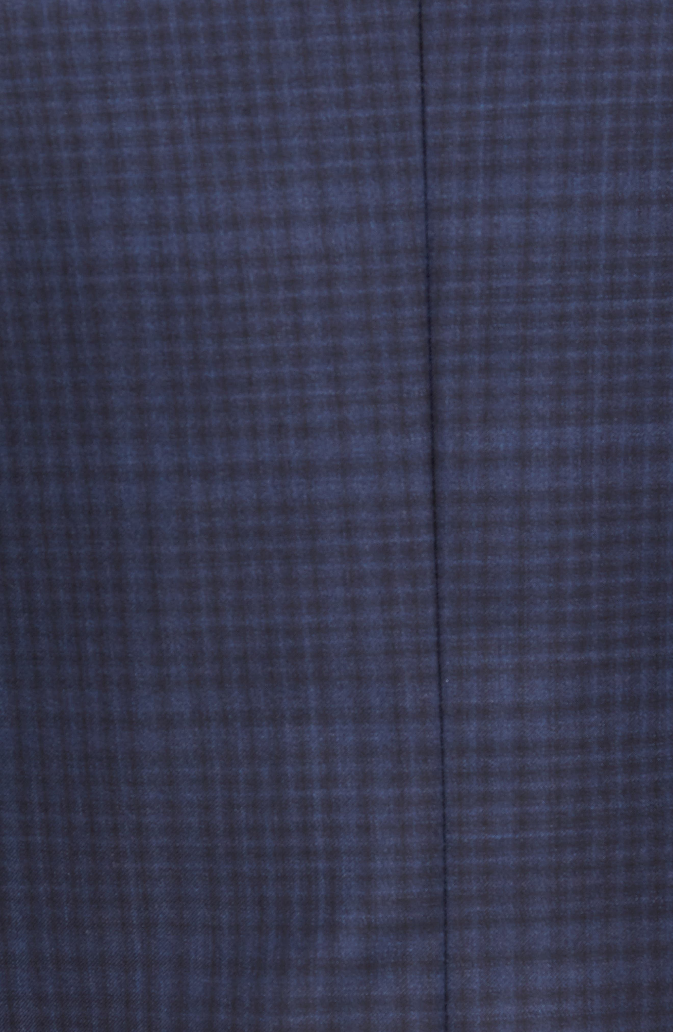 Classic Fit Plaid Wool Sport Coat,                             Alternate thumbnail 6, color,                             NAVY