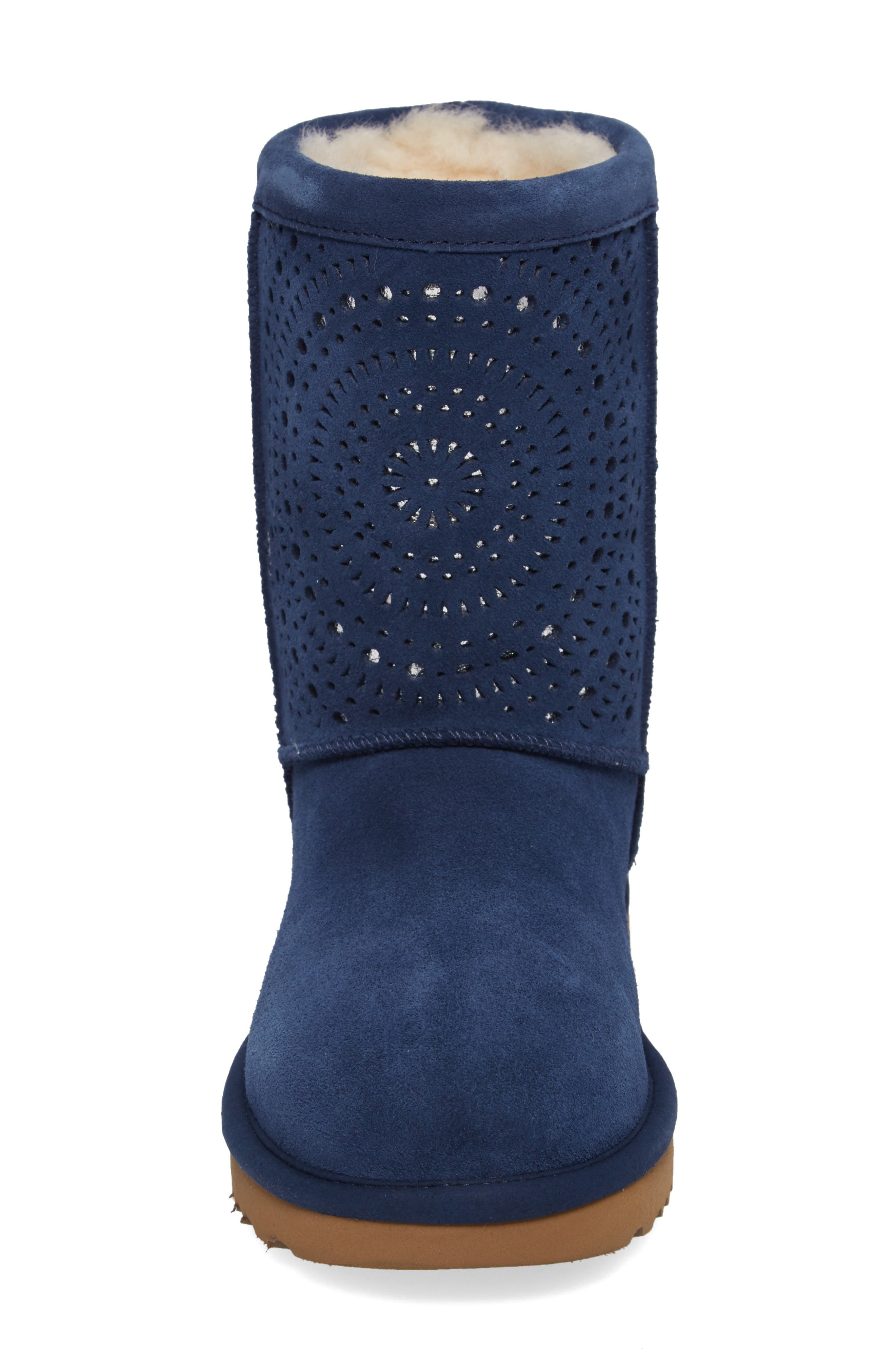 Classic Short Sunshine Perforated Boot,                             Alternate thumbnail 12, color,