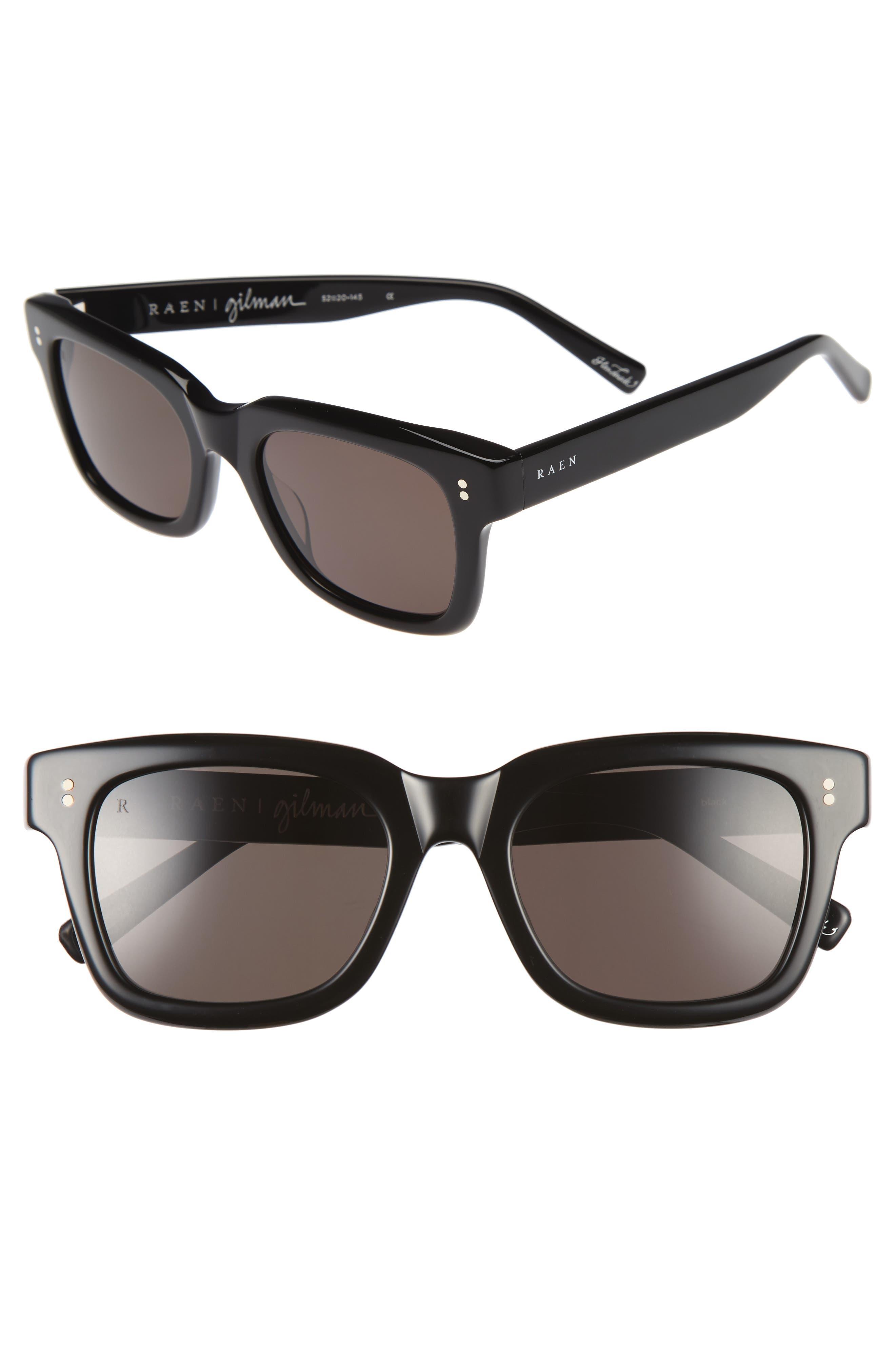Gilman 52mm Sunglasses,                             Main thumbnail 1, color,                             001