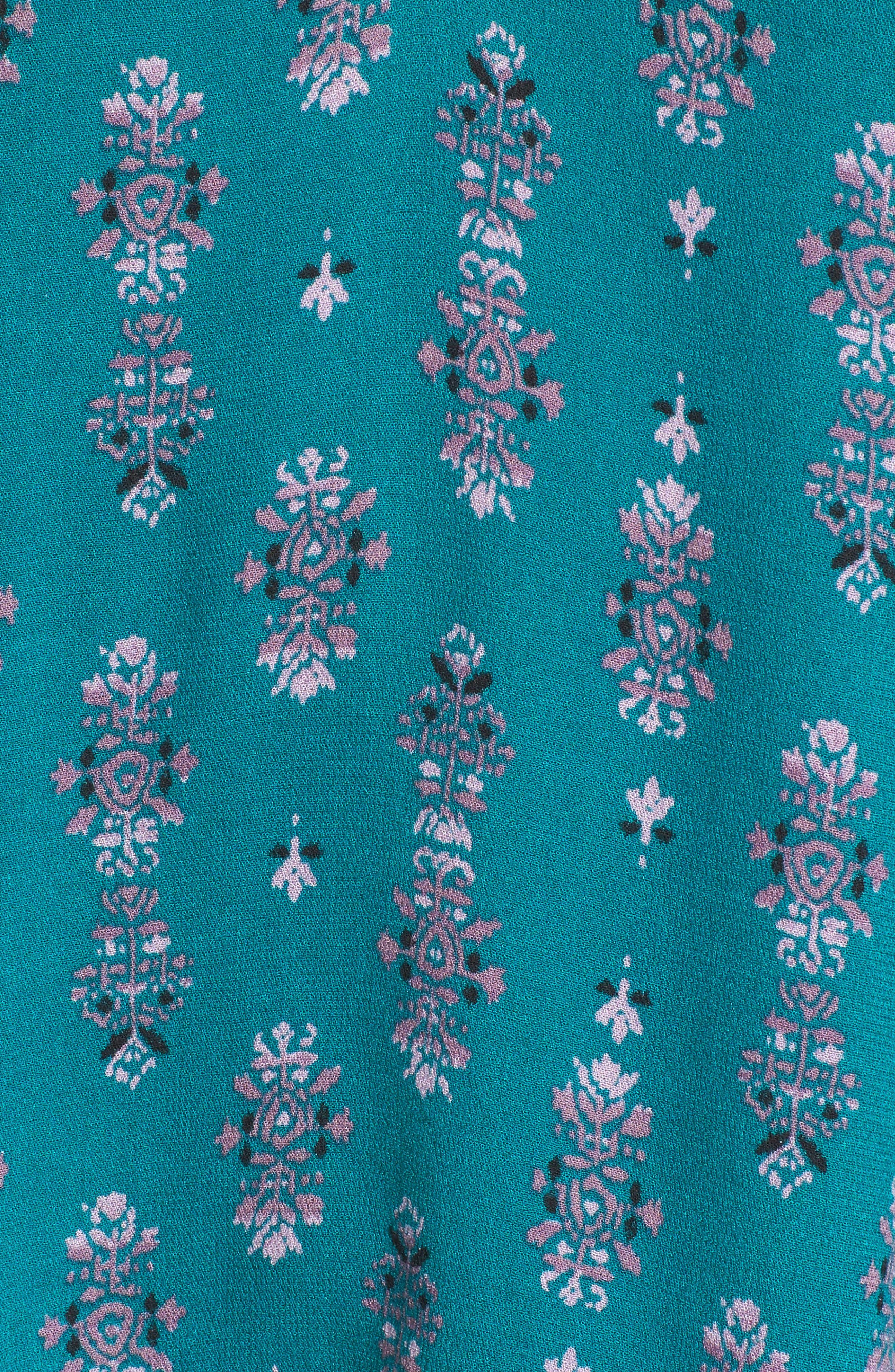 Tie Back Ruffle Trim Top,                             Alternate thumbnail 5, color,                             449