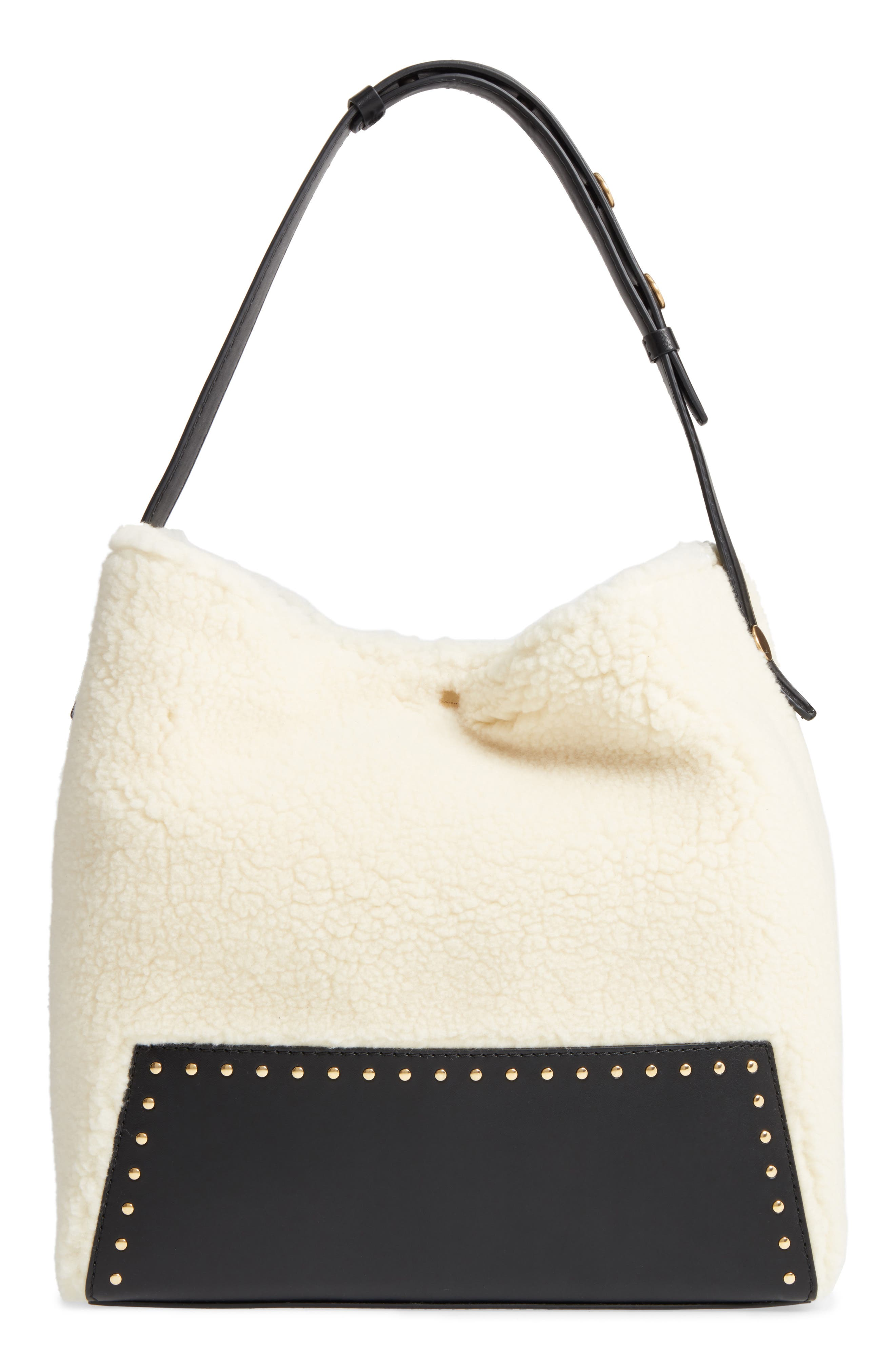 Alter Faux Shearling Hobo,                         Main,                         color, 108