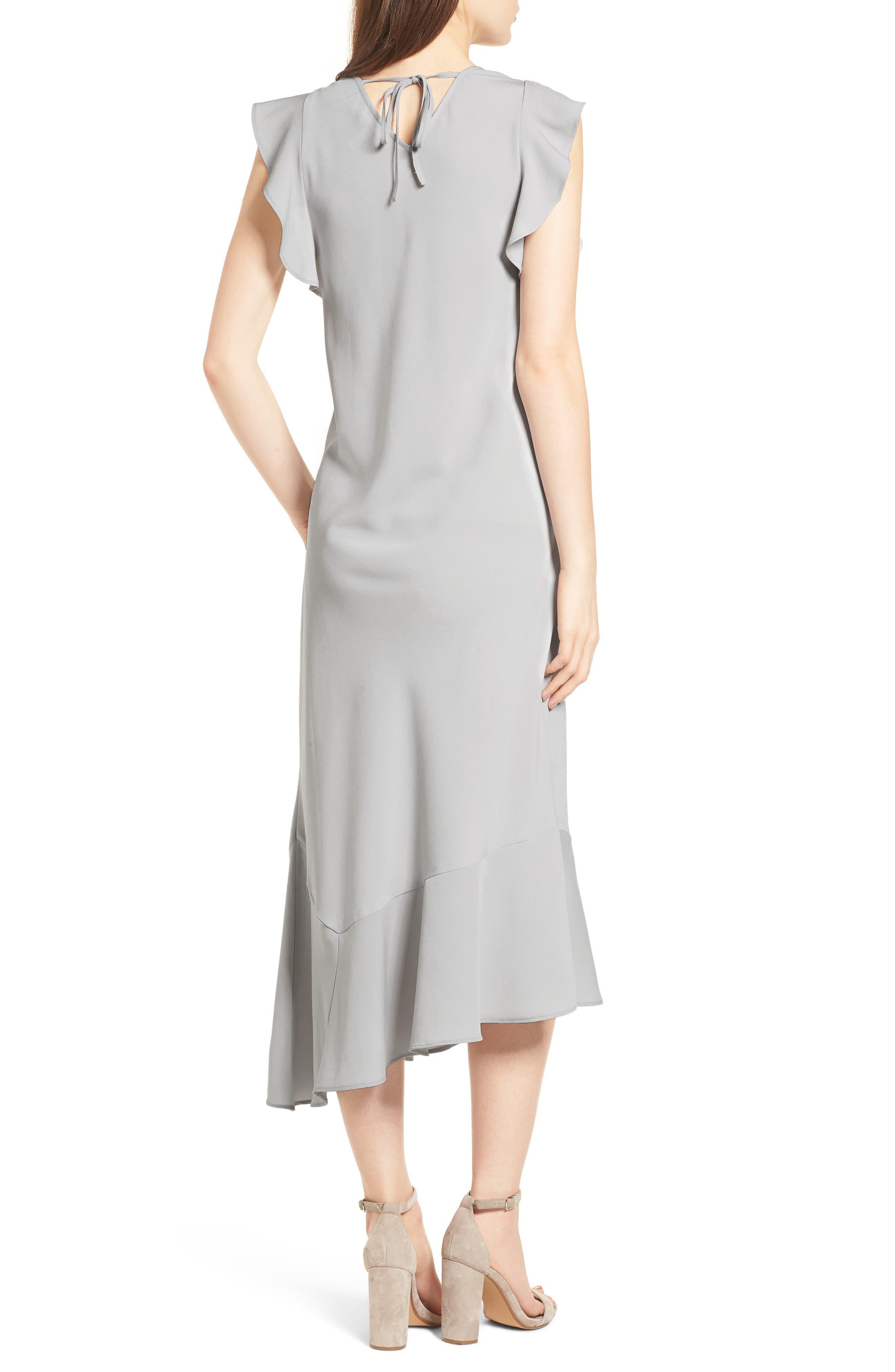 Bias Cut Asymmetrical Dress,                             Alternate thumbnail 2, color,