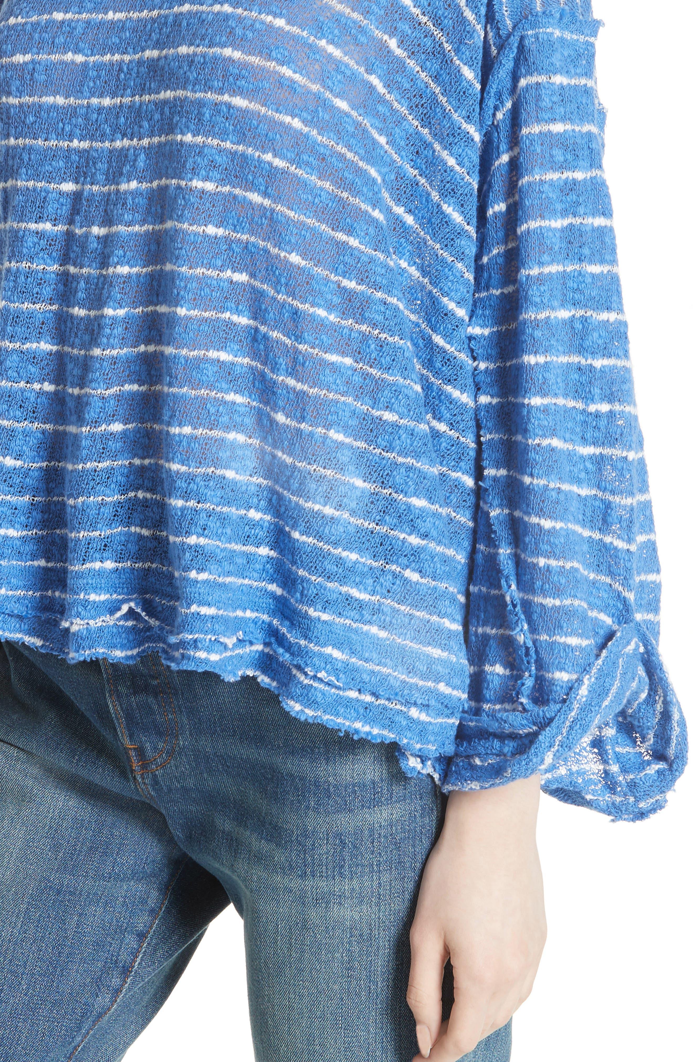 Island Girl Hacci Stripe Tee,                             Alternate thumbnail 11, color,