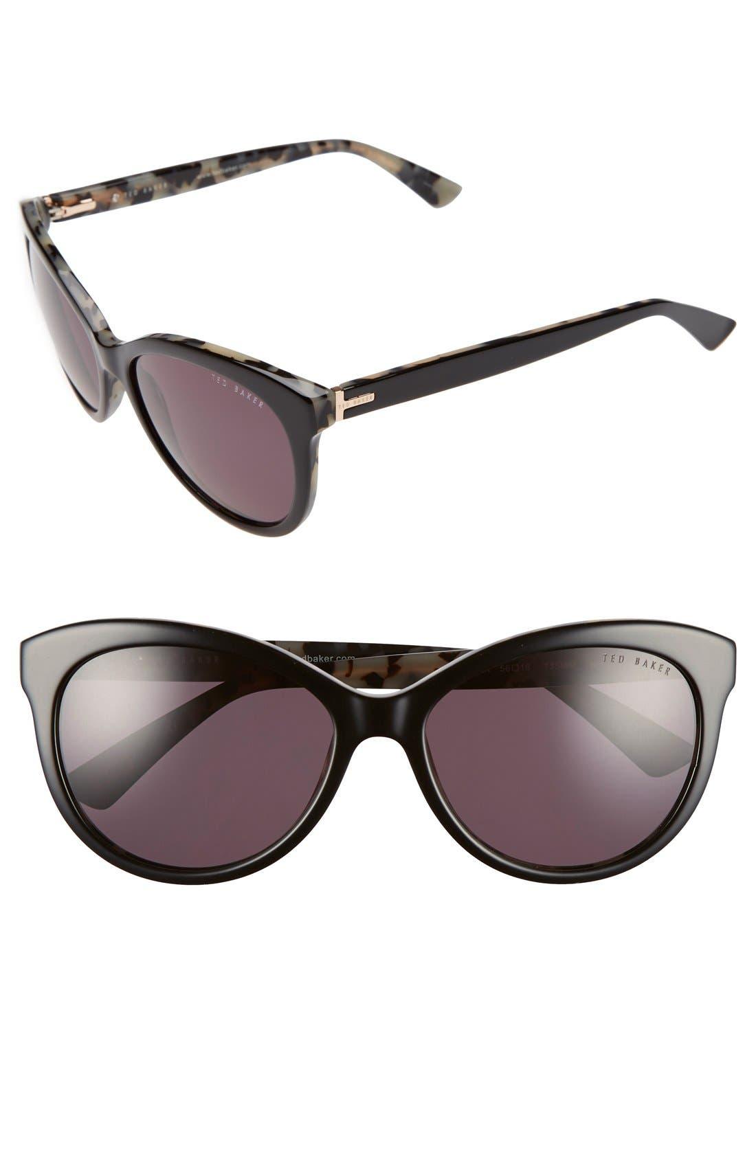56mm Cat Eye Sunglasses,                             Main thumbnail 1, color,
