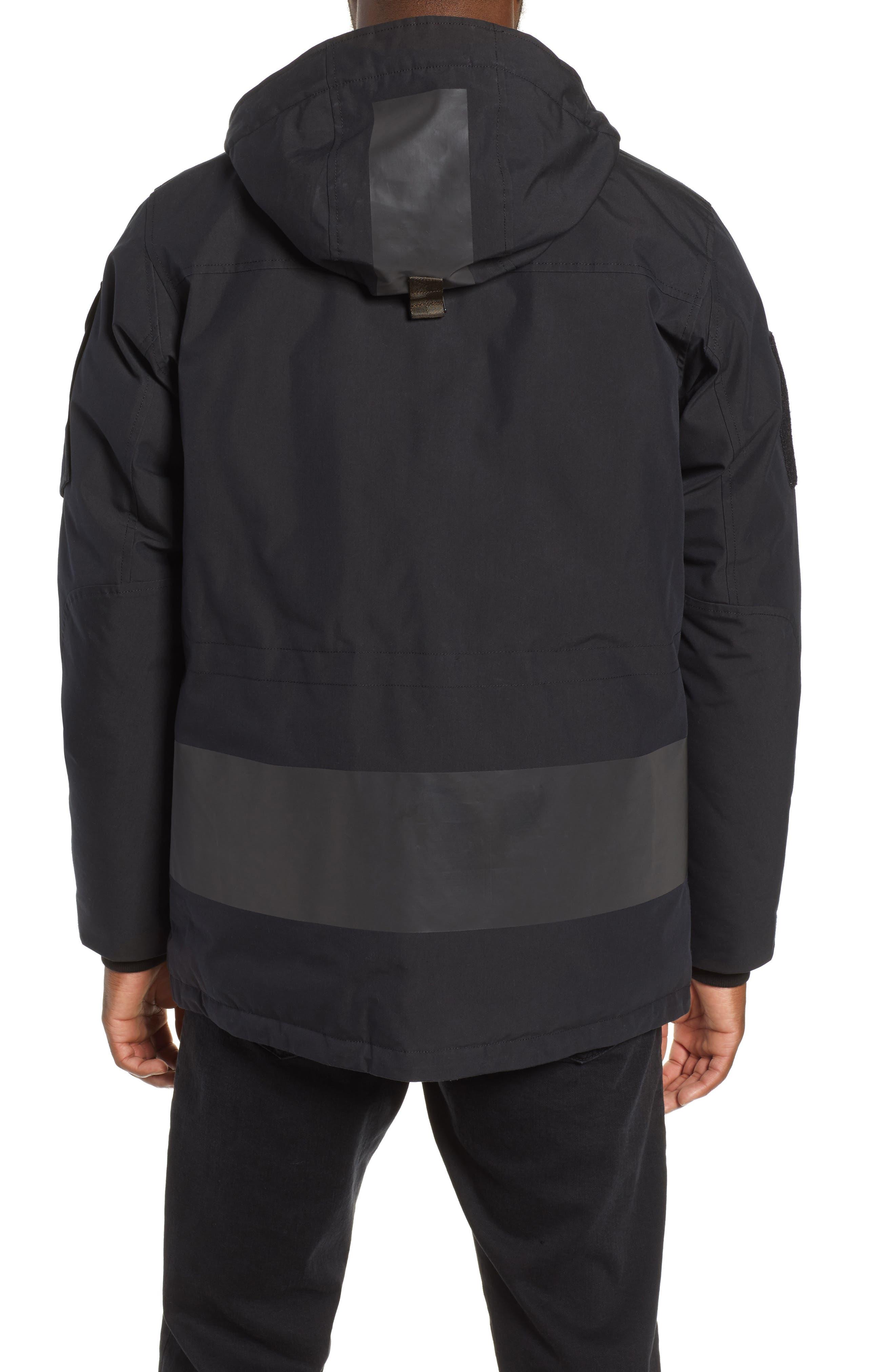 Regular Fit Surplus Down Jacket,                             Alternate thumbnail 2, color,                             BLACK